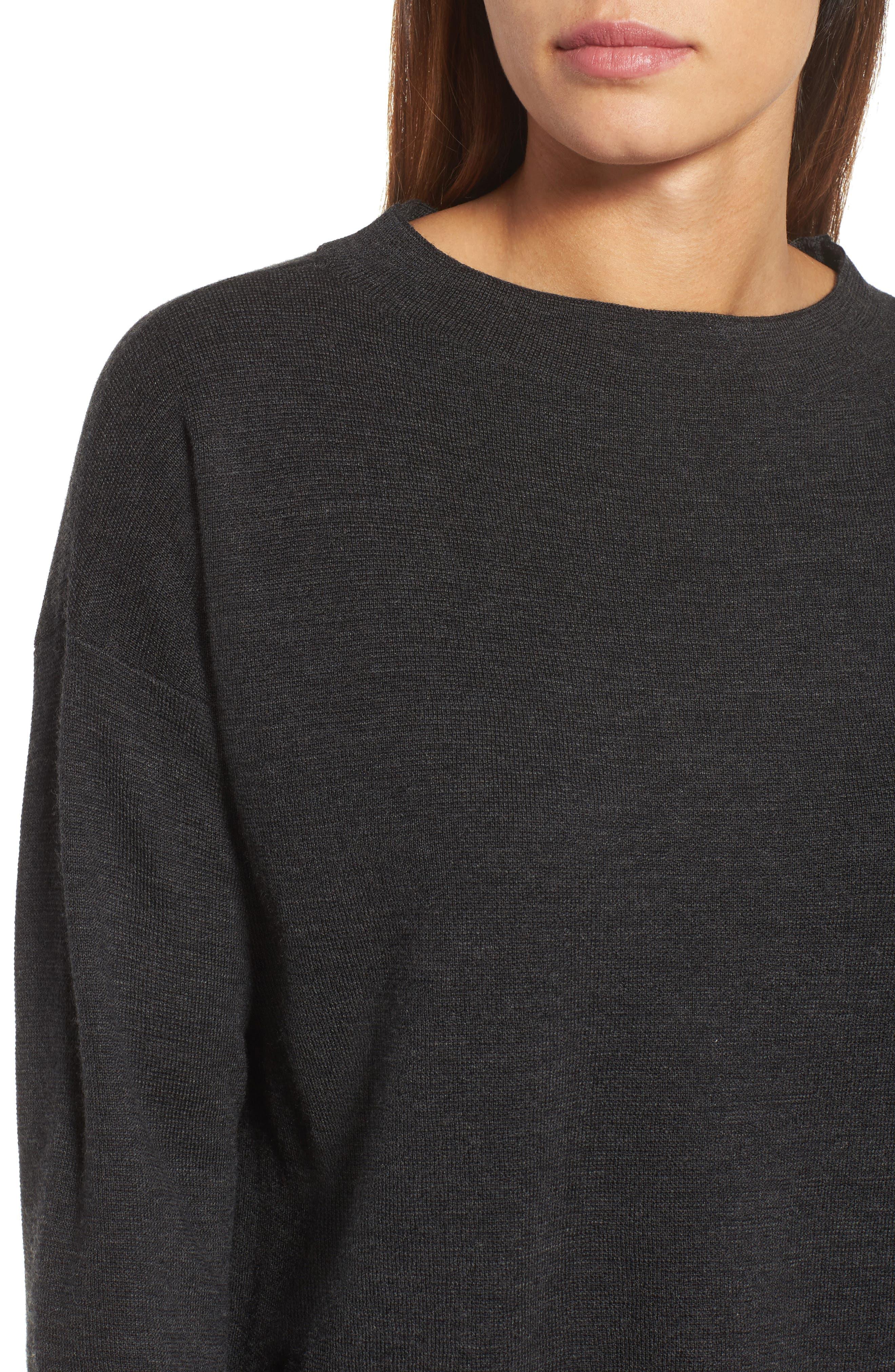 Alternate Image 4  - Eileen Fisher Mock Neck Box Wool Sweater