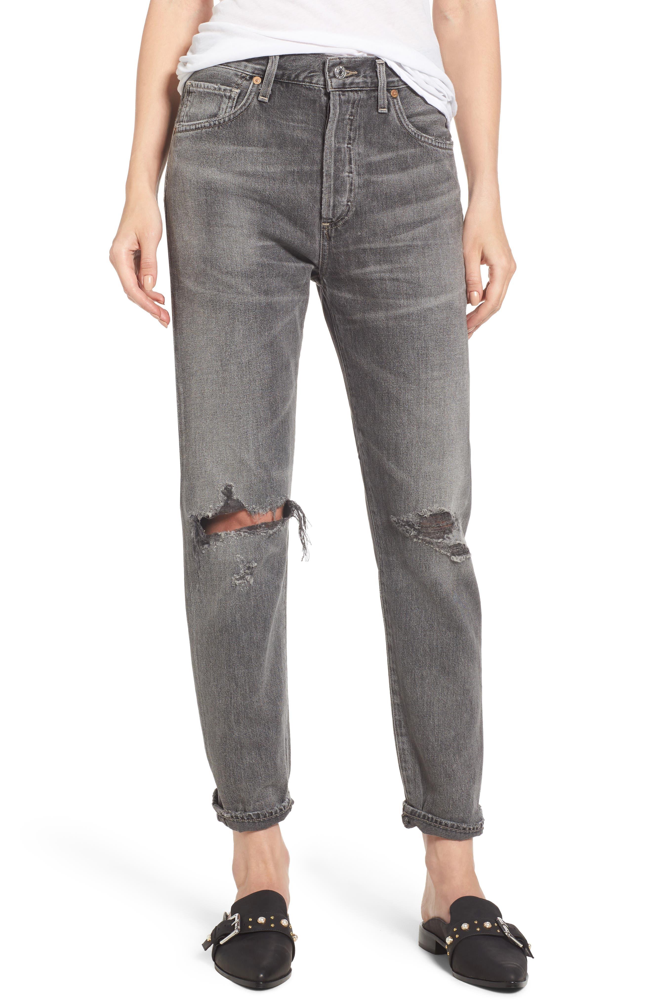 Liya High Waist Boyfriend Jeans,                         Main,                         color, Extreme