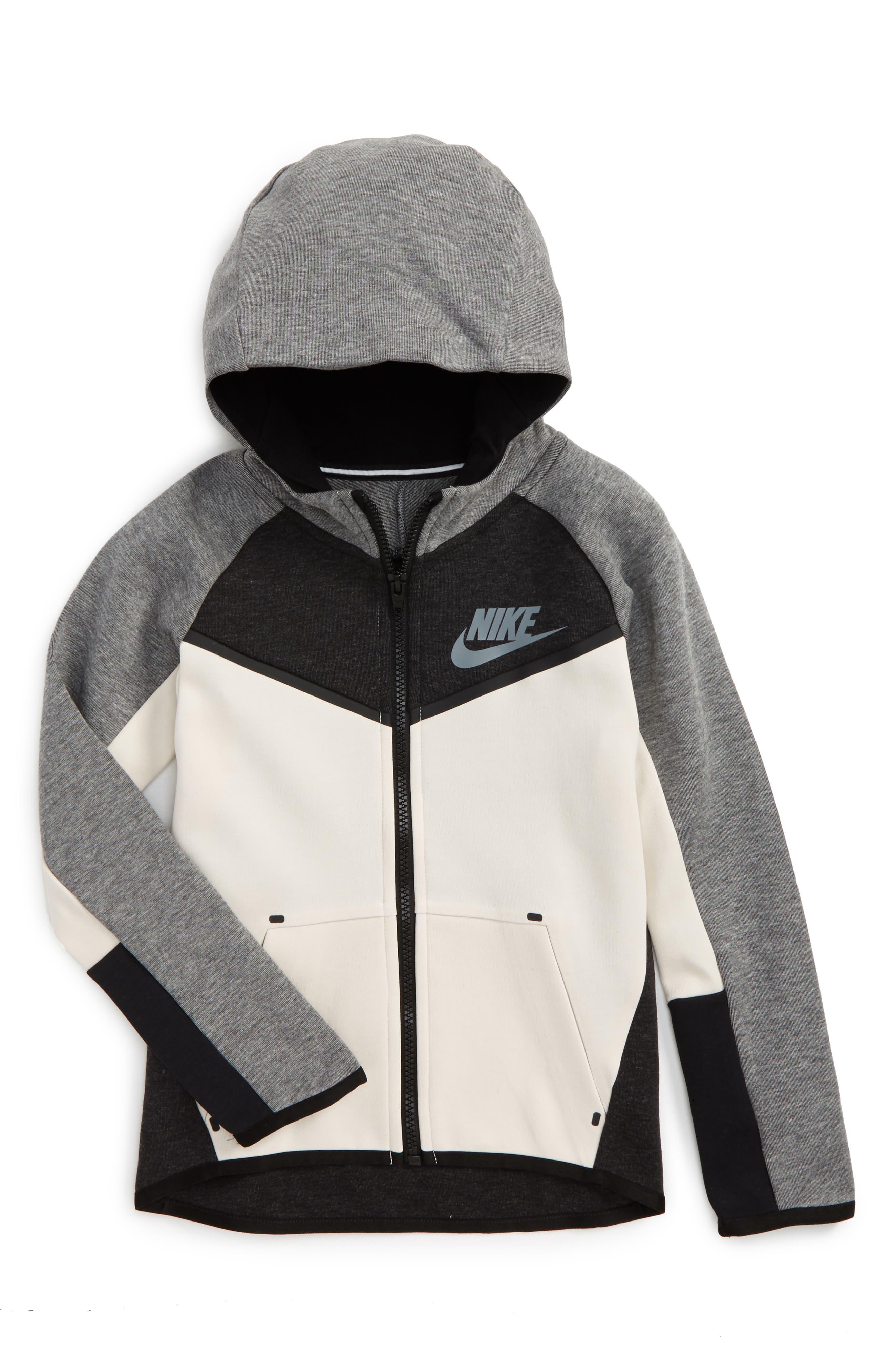 Nike Tech Fleece Zip Hoodie (Little Boys)