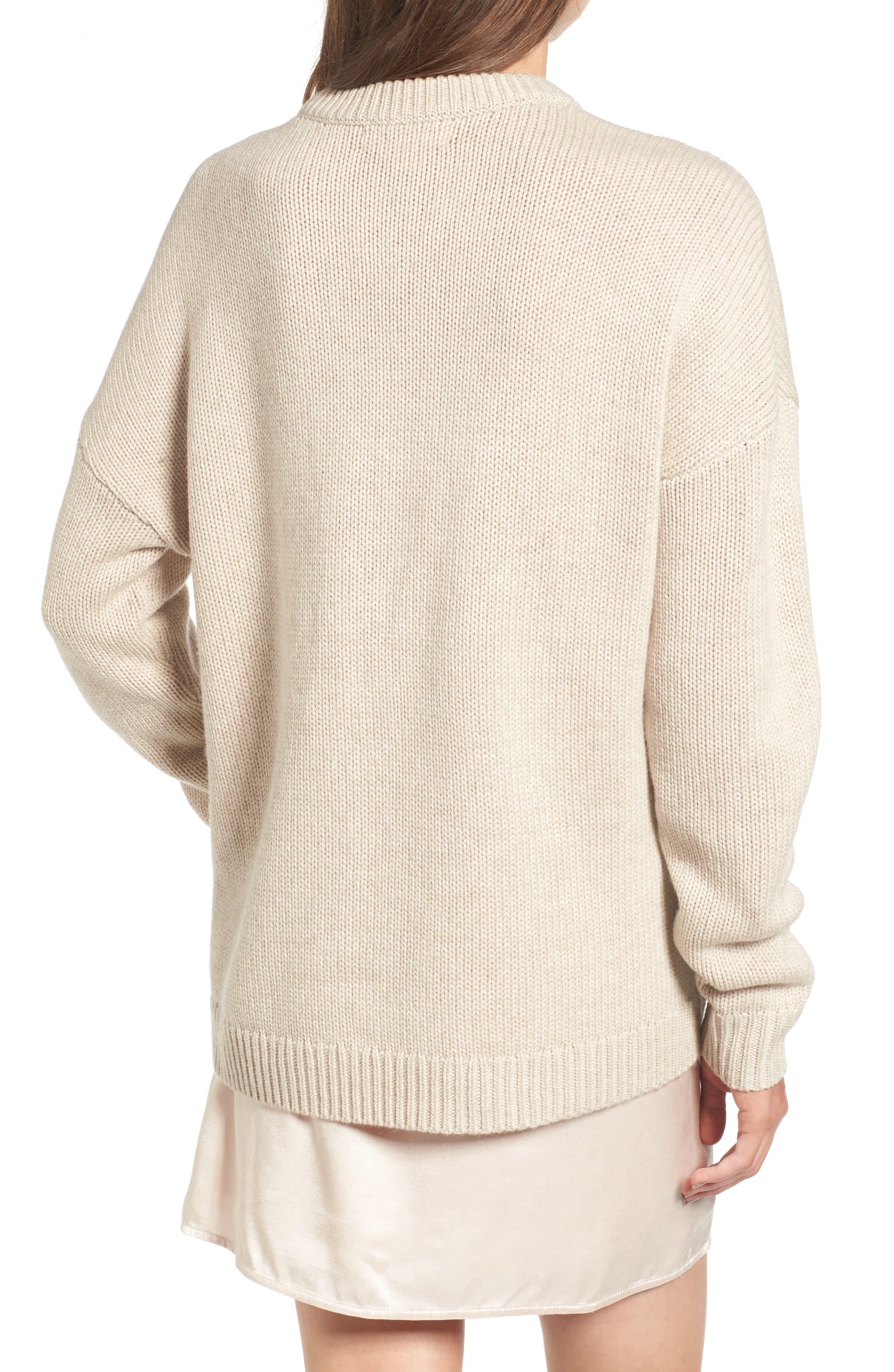 Alternate Image 2  - Treasure & Bond x Something Navy Crewneck Sweater