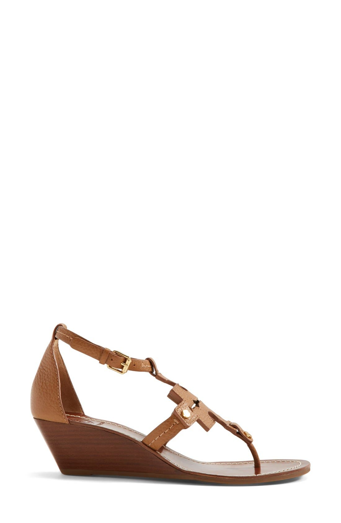 Alternate Image 4  - Tory Burch 'Chandler' Wedge Leather Sandal (Women)