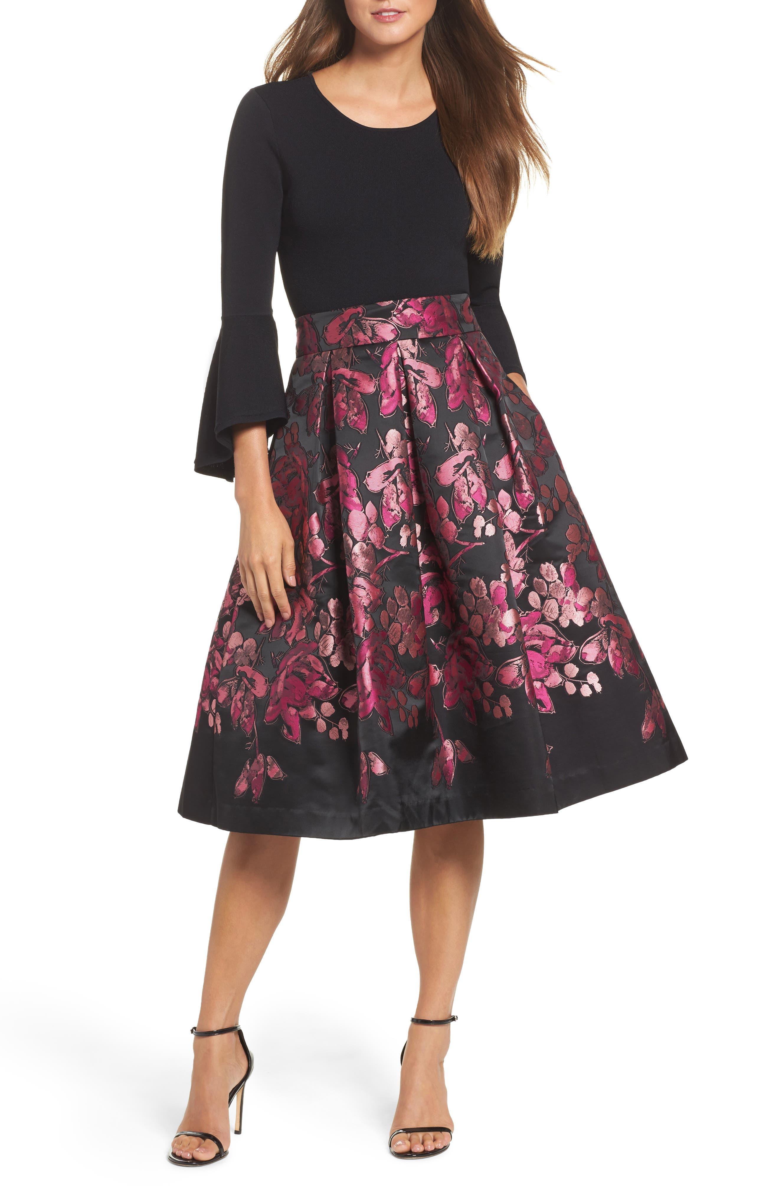 Alternate Image 7  - Eliza J Floral Jacquard Midi Skirt