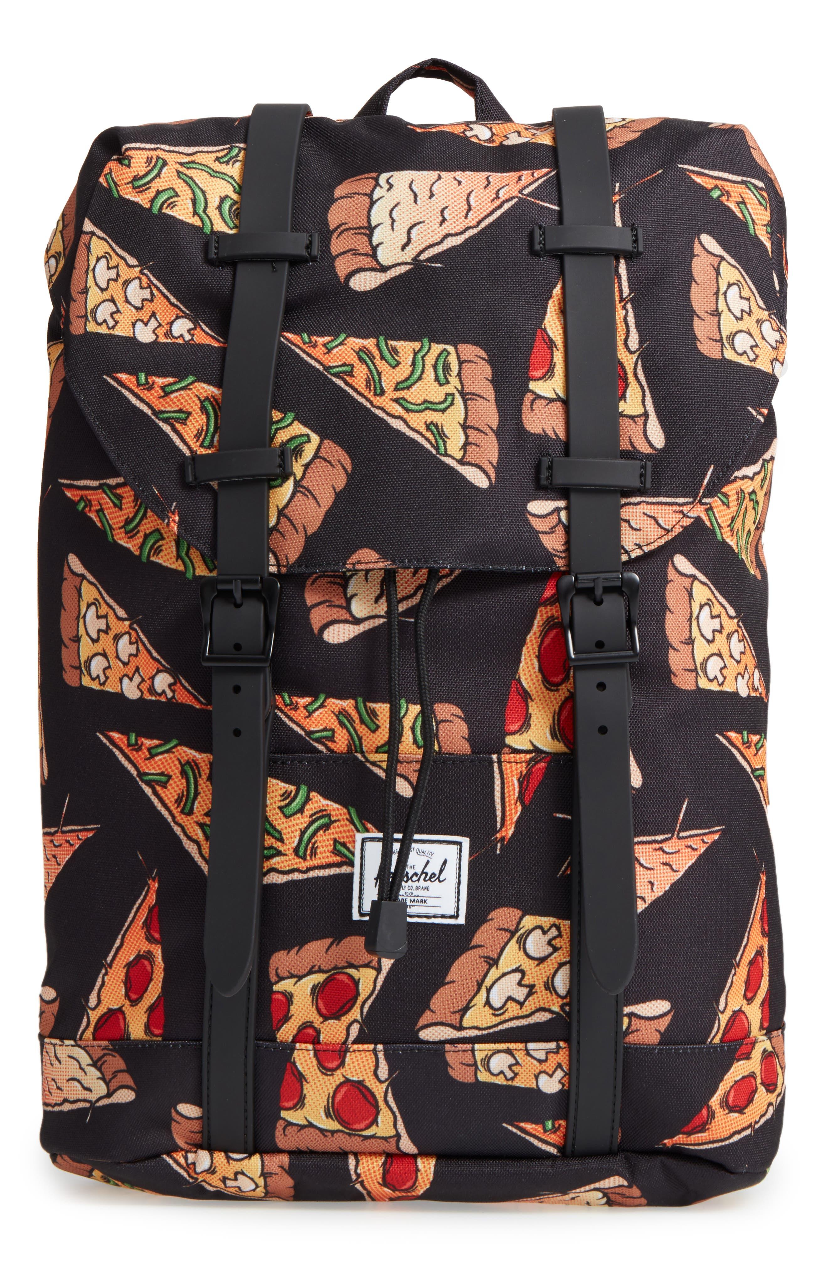 Retreat Backpack,                             Main thumbnail 1, color,                             Black Pizza