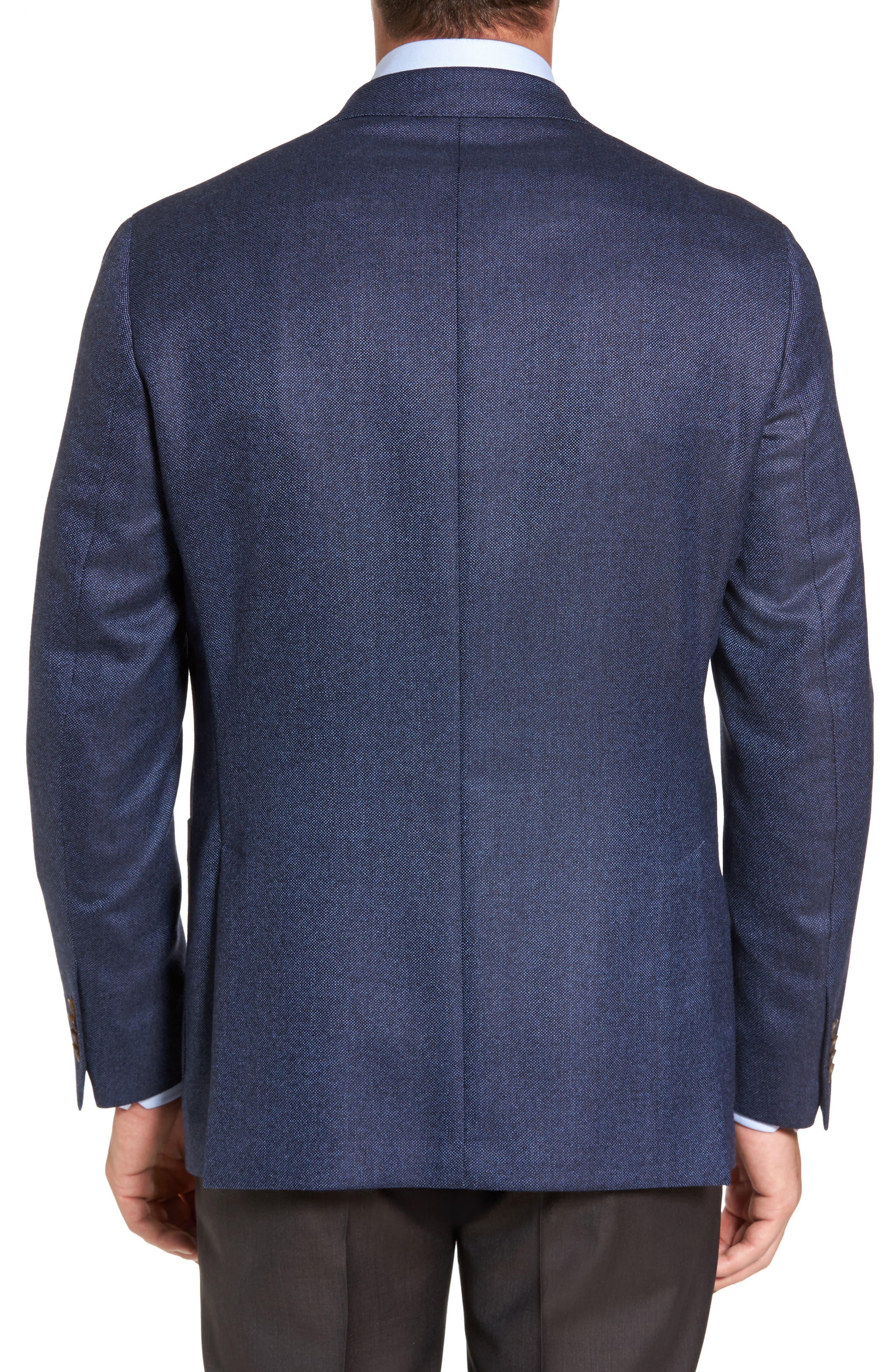 Alternate Image 2  - David Donahue Aiden Classic Fit Wool Blazer