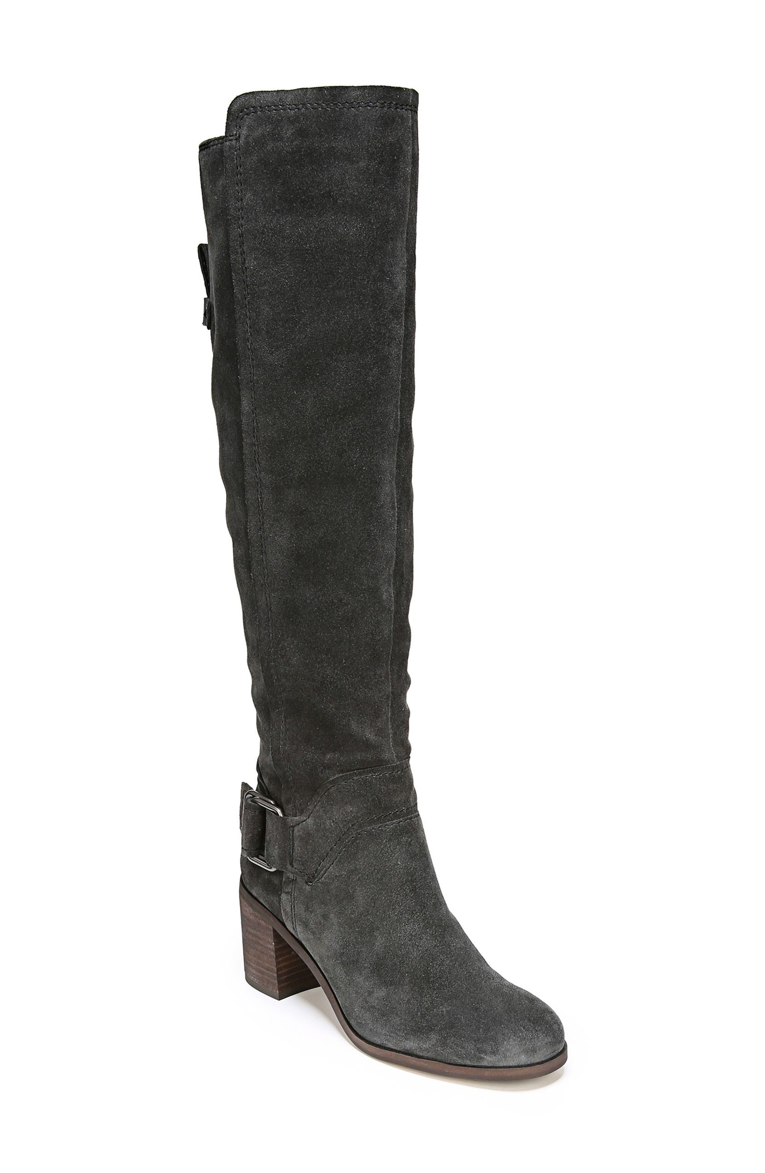 Mystic Knee High Boot,                             Main thumbnail 1, color,                             Coal Suede