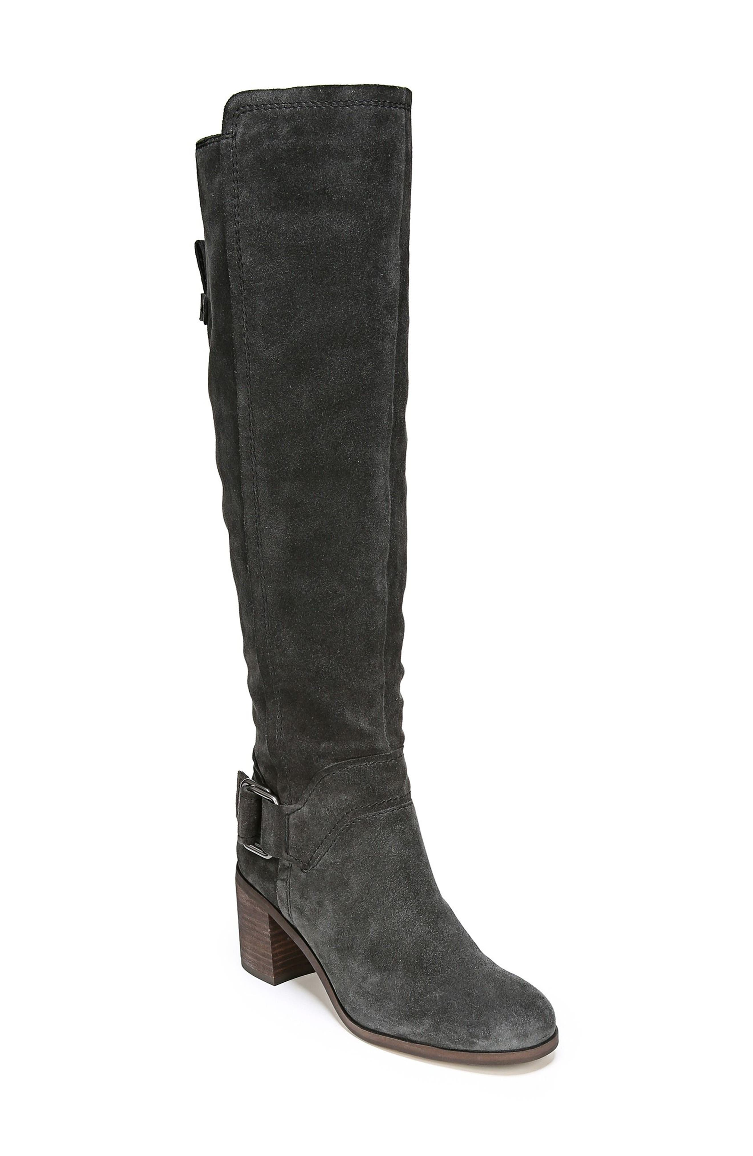 Mystic Knee High Boot,                         Main,                         color, Coal Suede