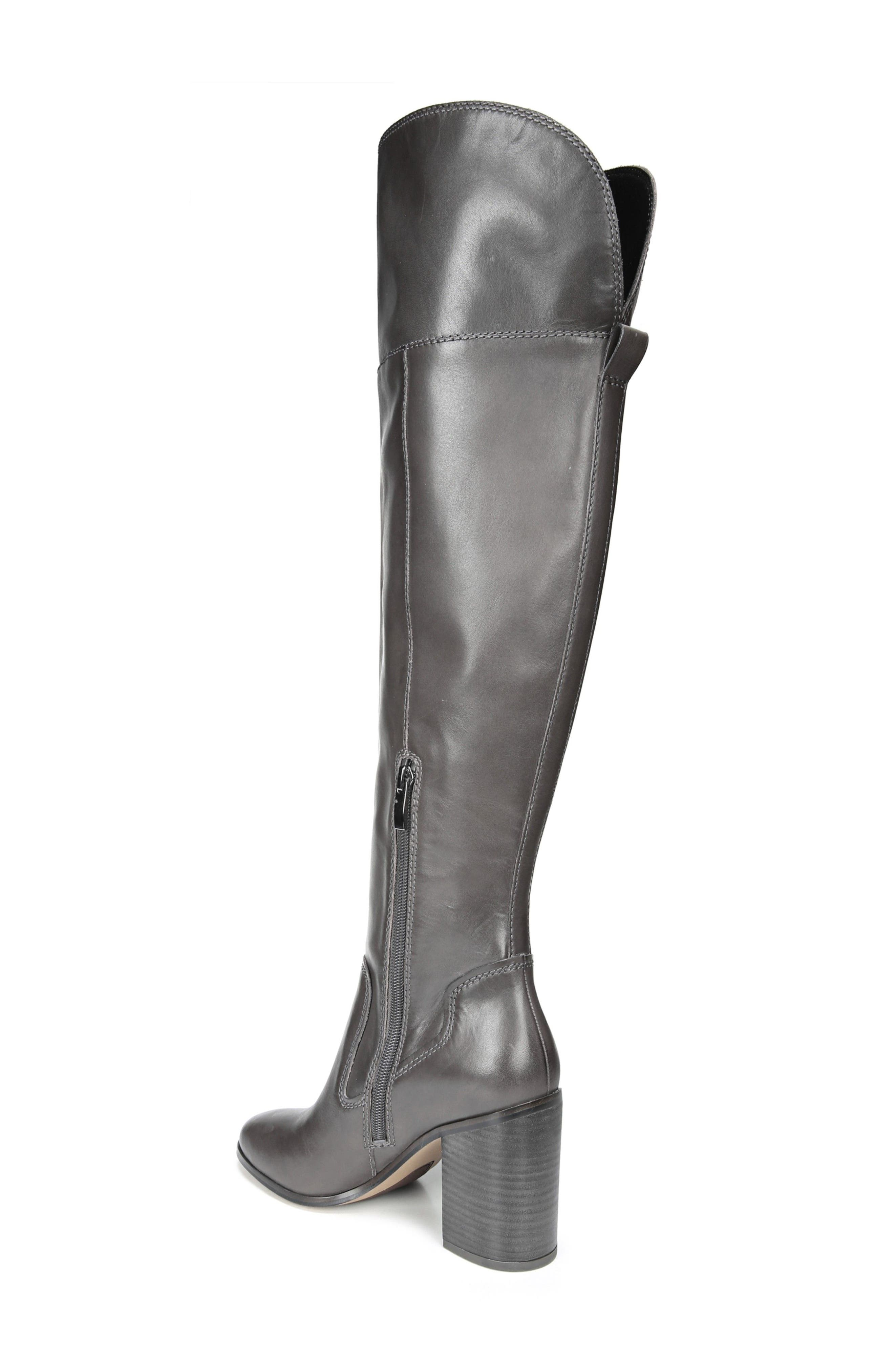 Freda Over the Knee Boot,                             Alternate thumbnail 2, color,                             Peat Leather