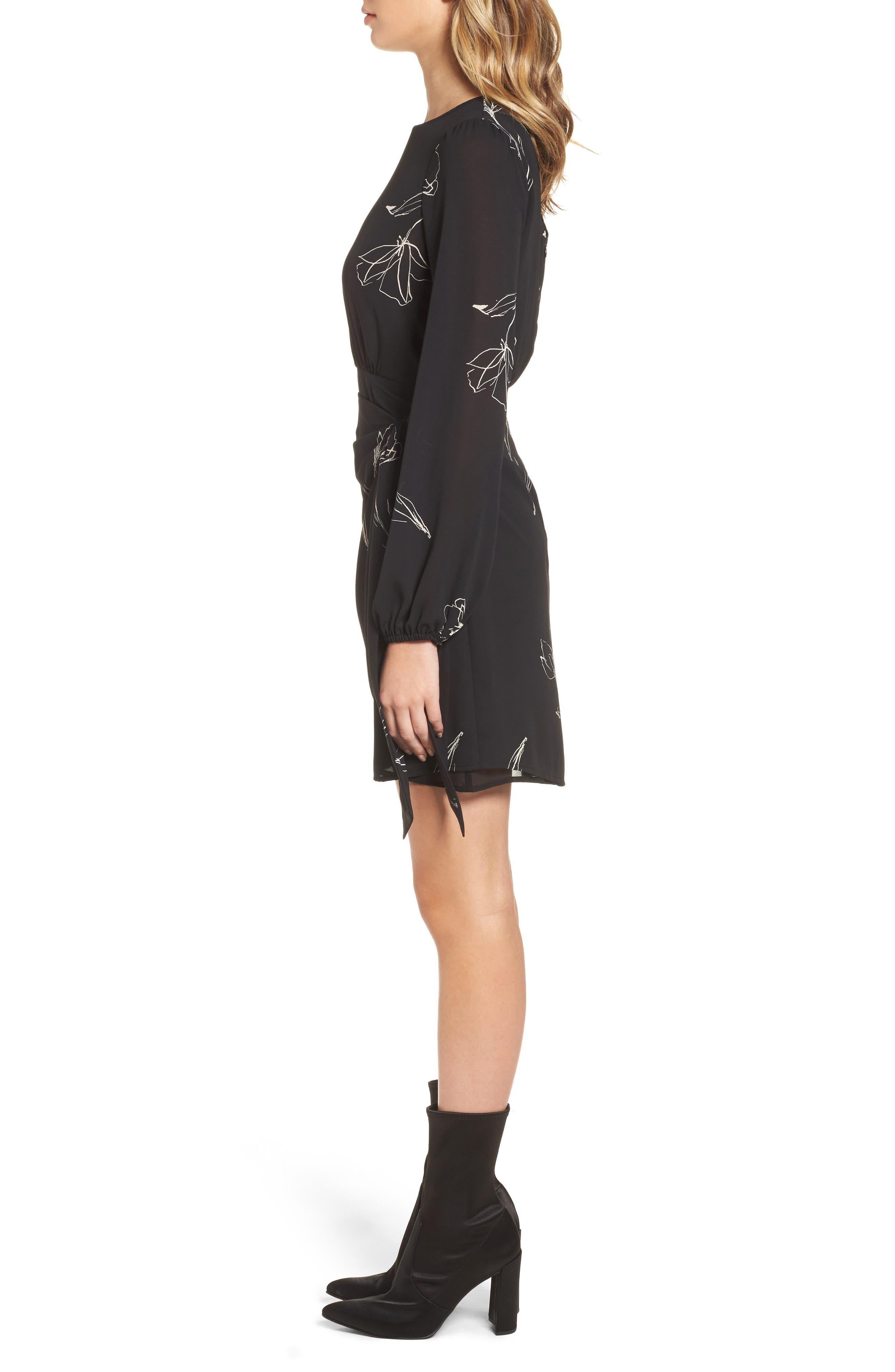Alternate Image 3  - ASTR the Label Tie Skirt Dress