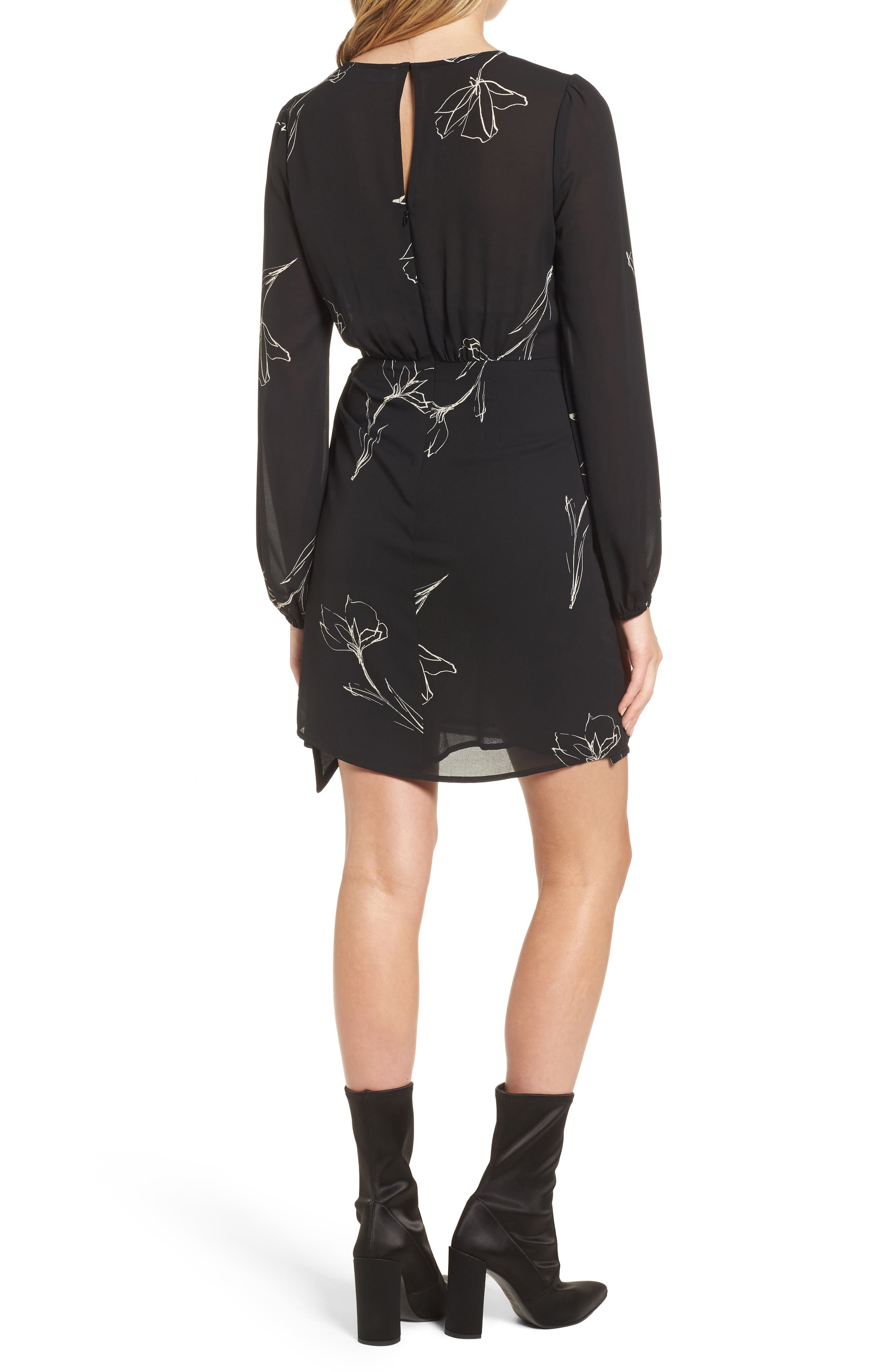 Alternate Image 2  - ASTR the Label Tie Skirt Dress