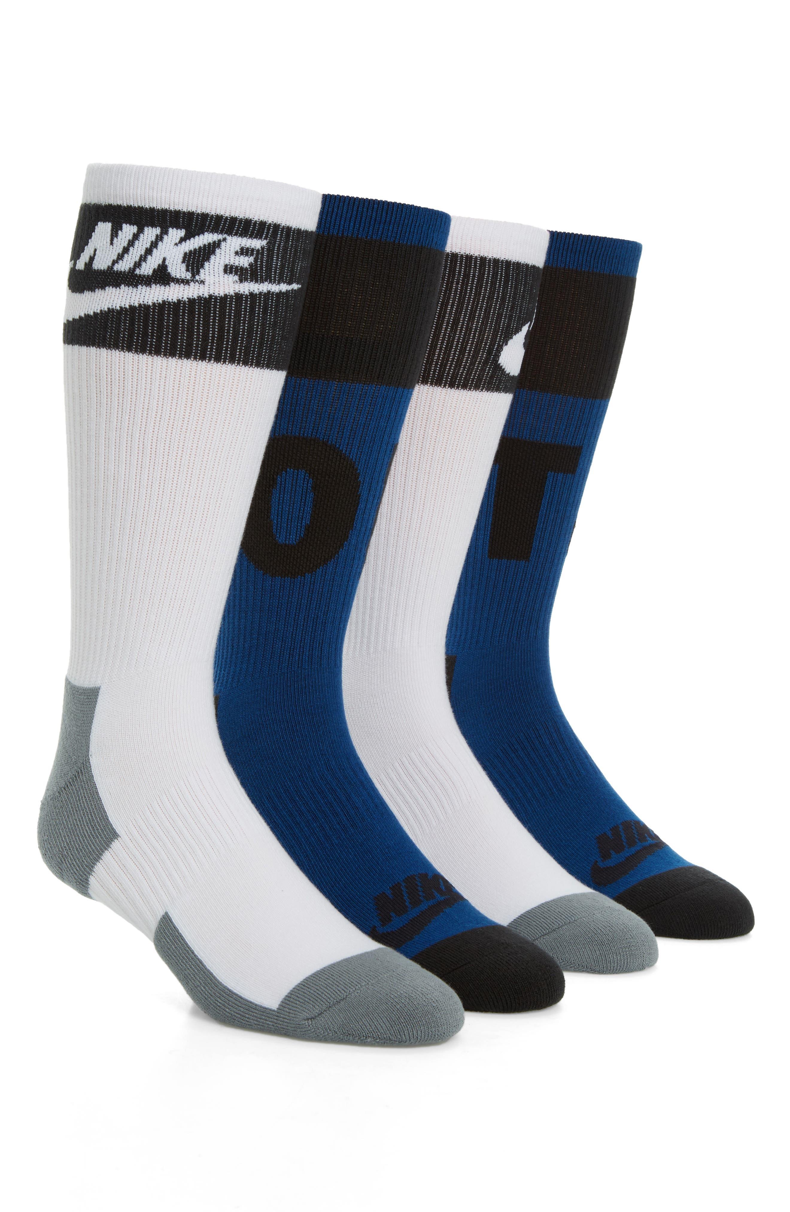 HBR 2-Pack Socks,                         Main,                         color, Binary Blue/ White