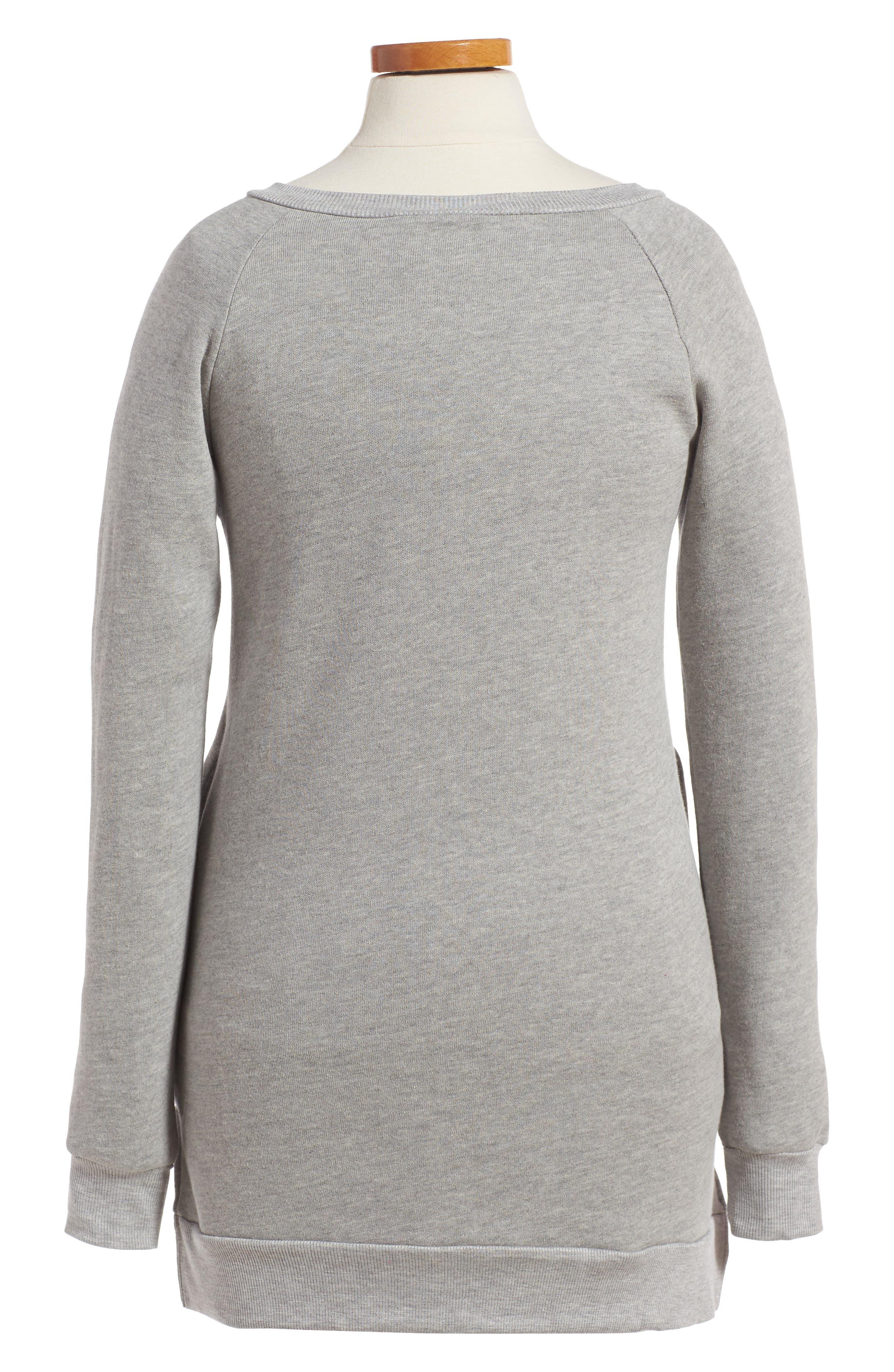 Alternate Image 2  - PPLA Dreamer Appliqué Sweatshirt Dress (Big Girls)