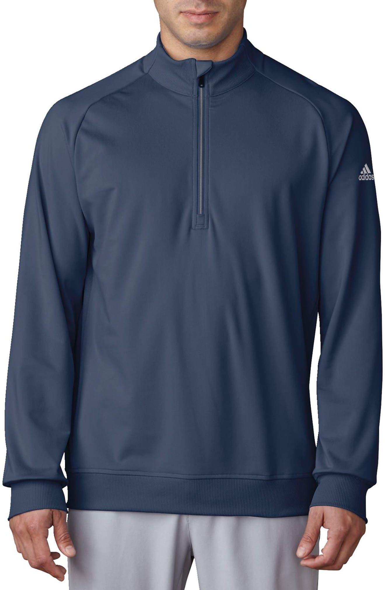 Main Image - adidas Quarter Zip Gold Pullover