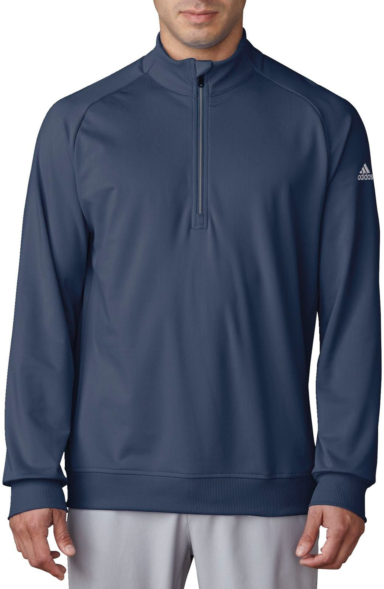 Quarter Zip Gold Pullover,                         Main,                         color, Blue