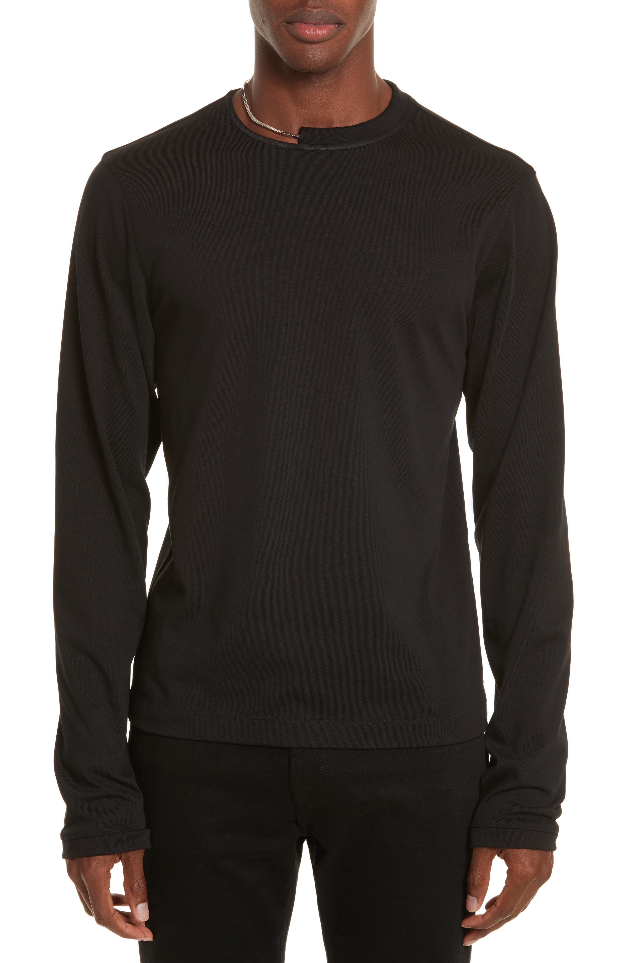 Alternate Image 1 Selected - Helmut Lang Necklace Crewneck T-Shirt