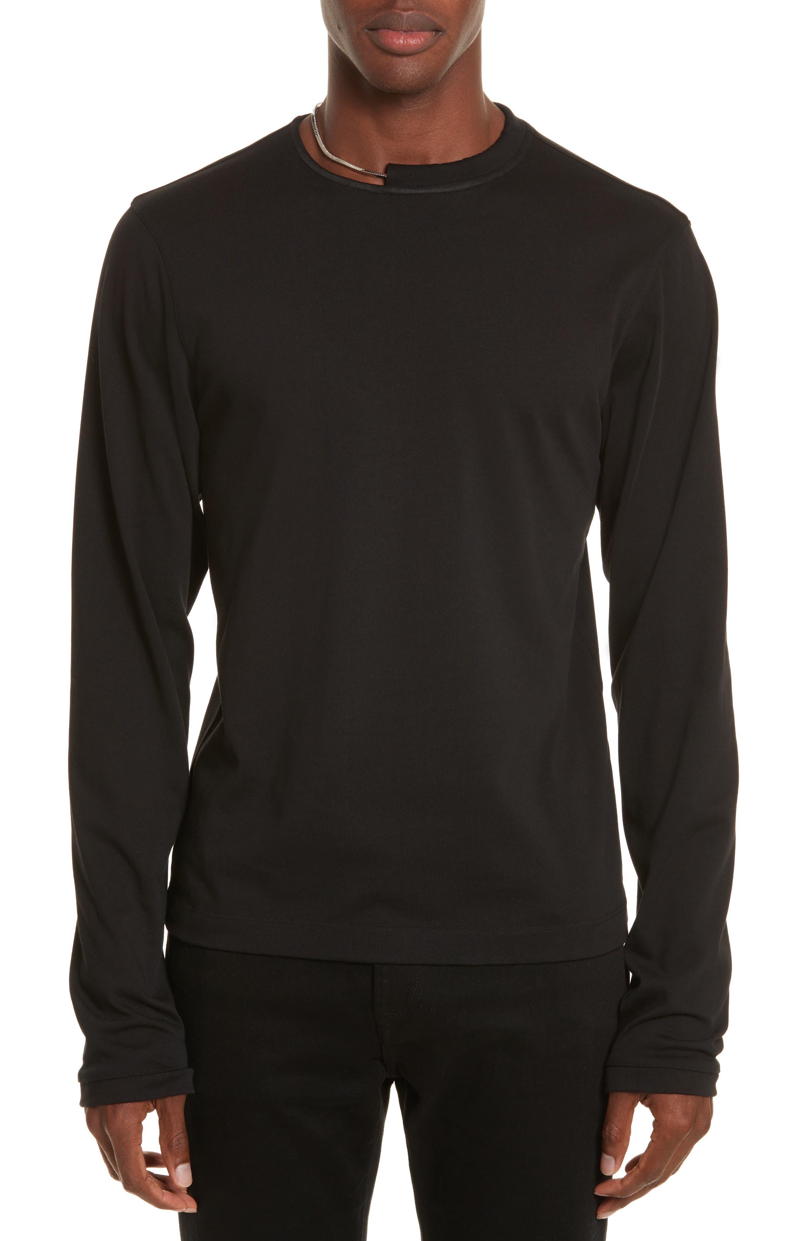 Necklace Crewneck T-Shirt,                         Main,                         color, Black