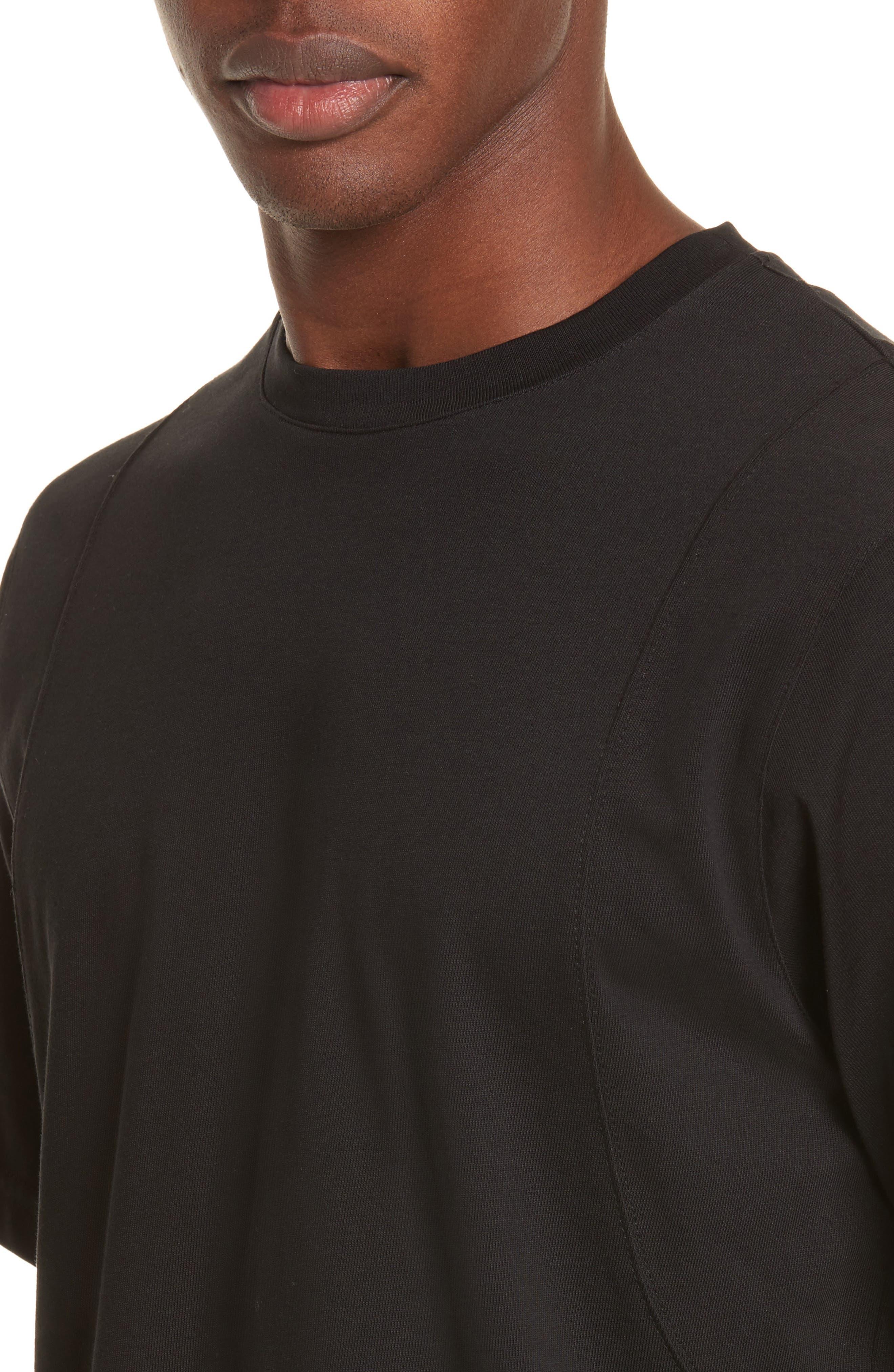 Alternate Image 4  - Helmut Lang Drape Military Jersey T-Shirt