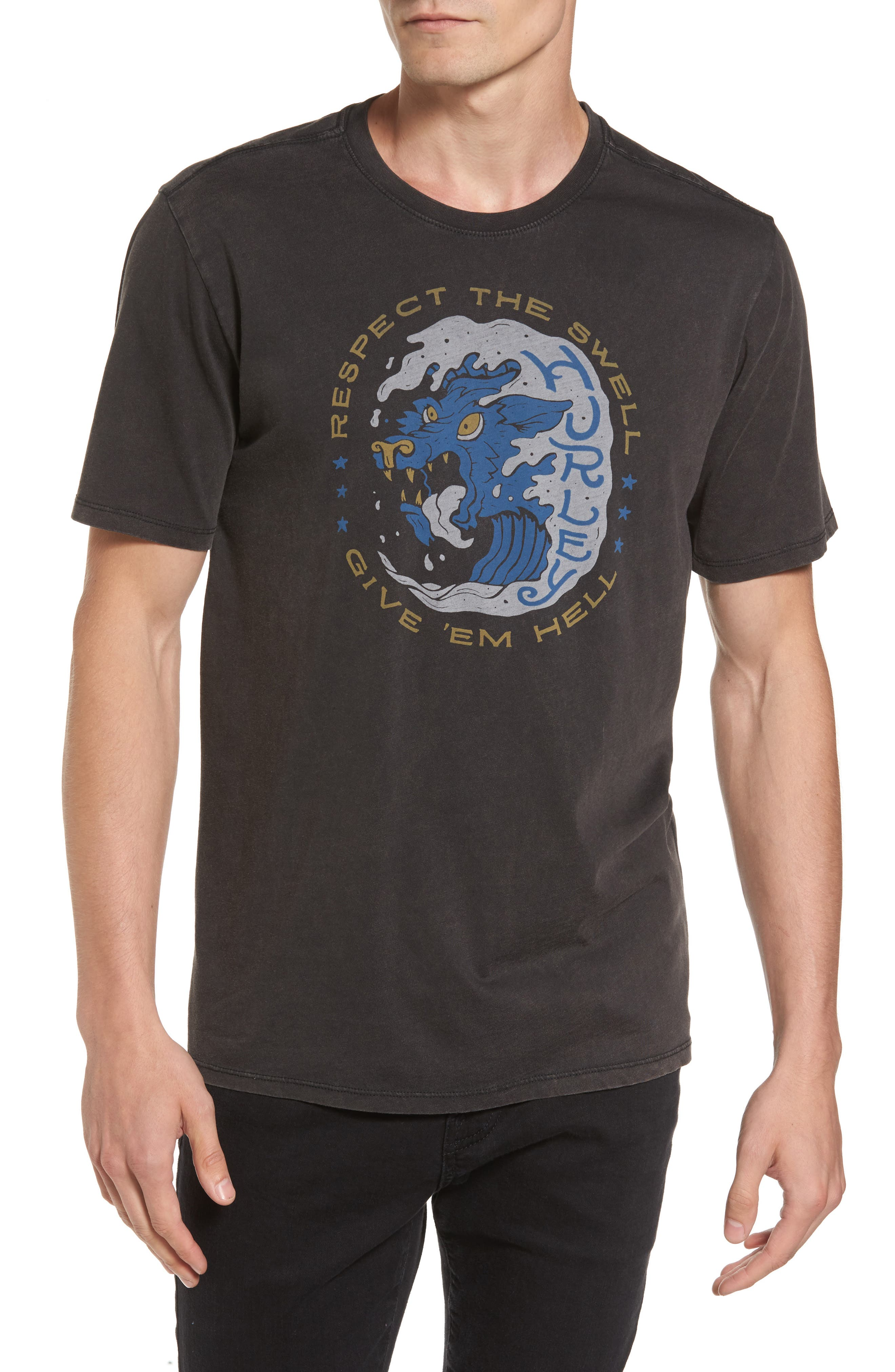 Respect the Swell T-Shirt,                         Main,                         color, Black