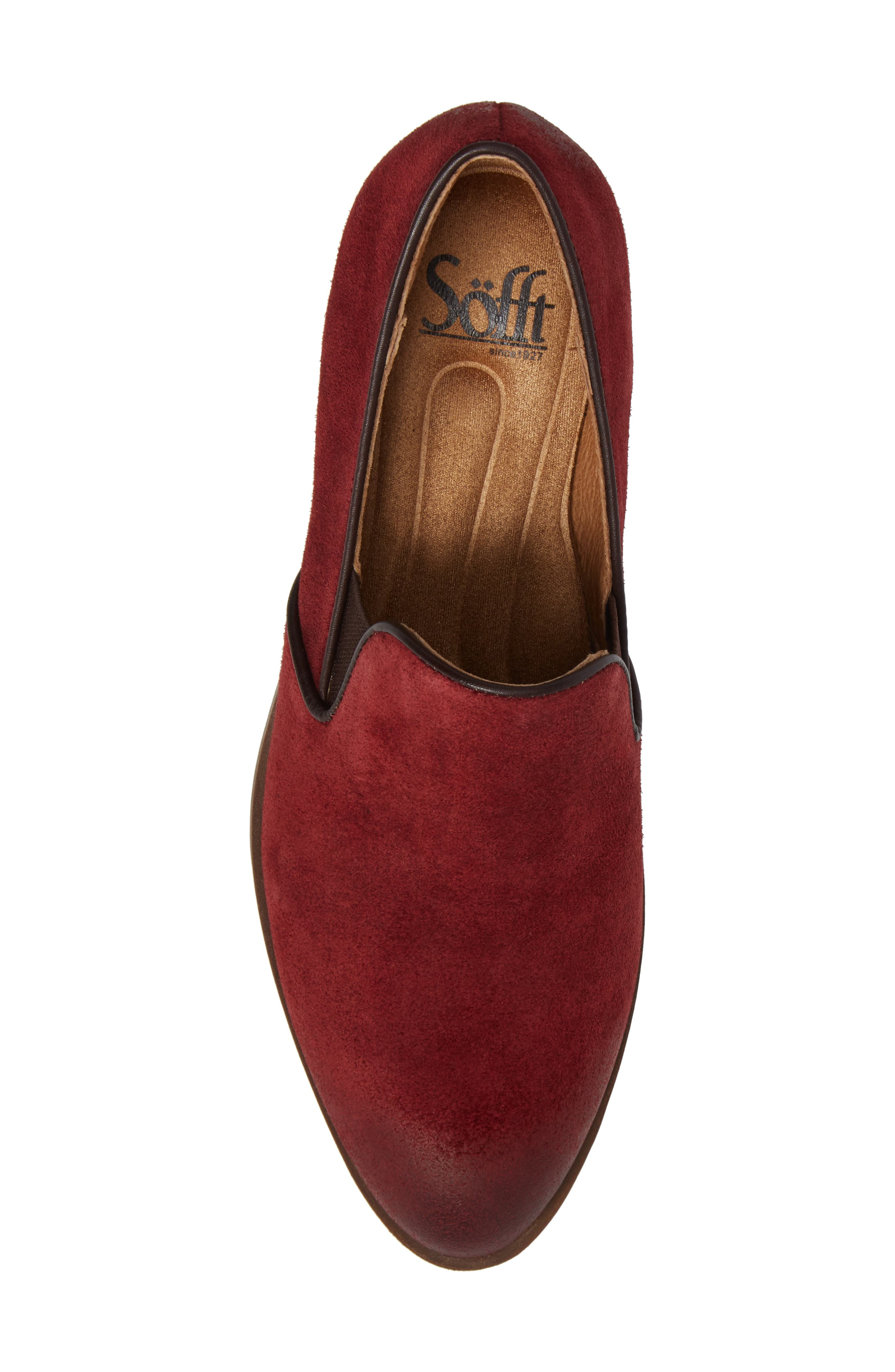 Velina Pump,                             Alternate thumbnail 5, color,                             Bordo Suede