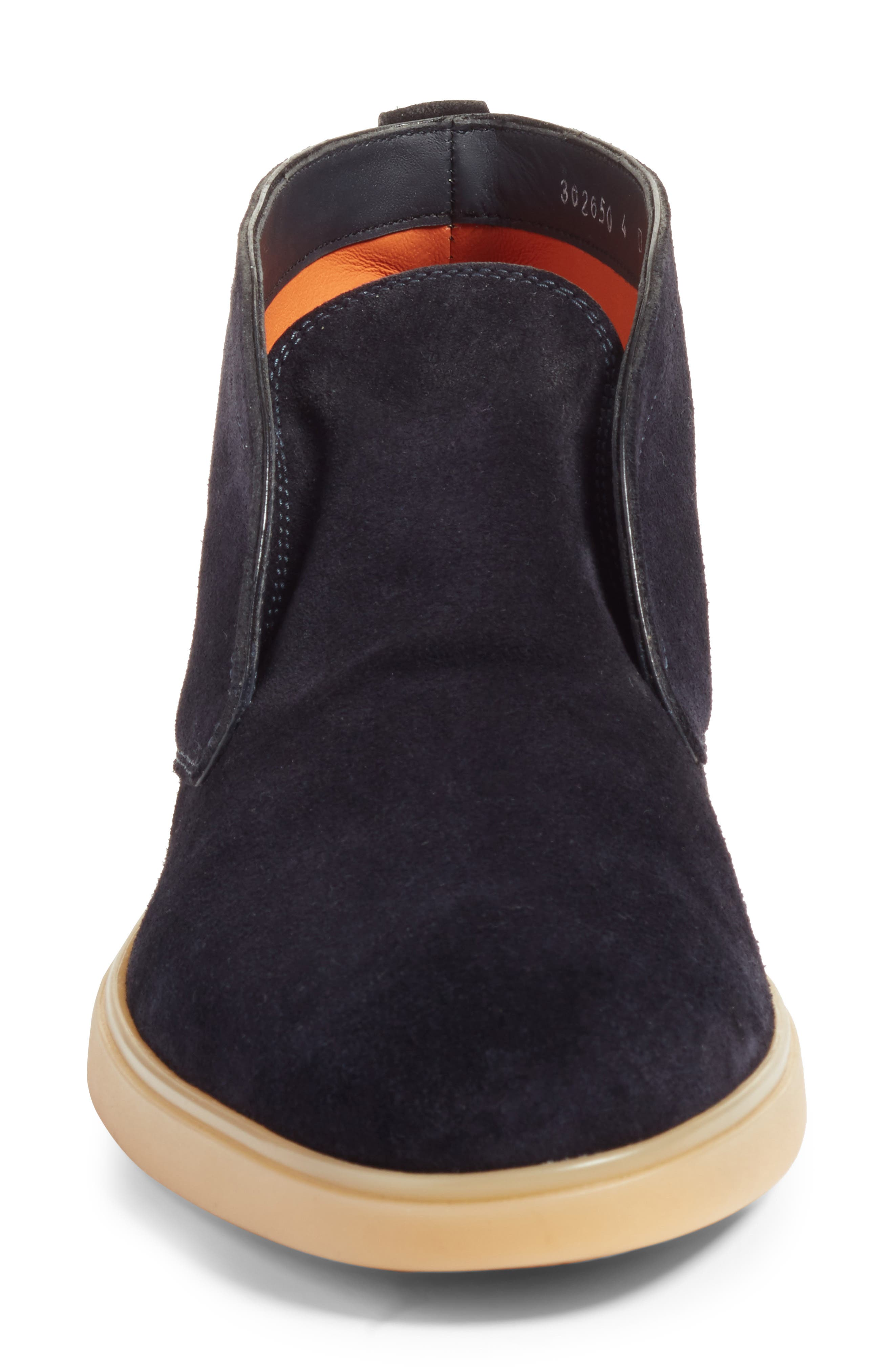 Gus Laceless Chukka Boot,                             Alternate thumbnail 4, color,                             Blue Suede