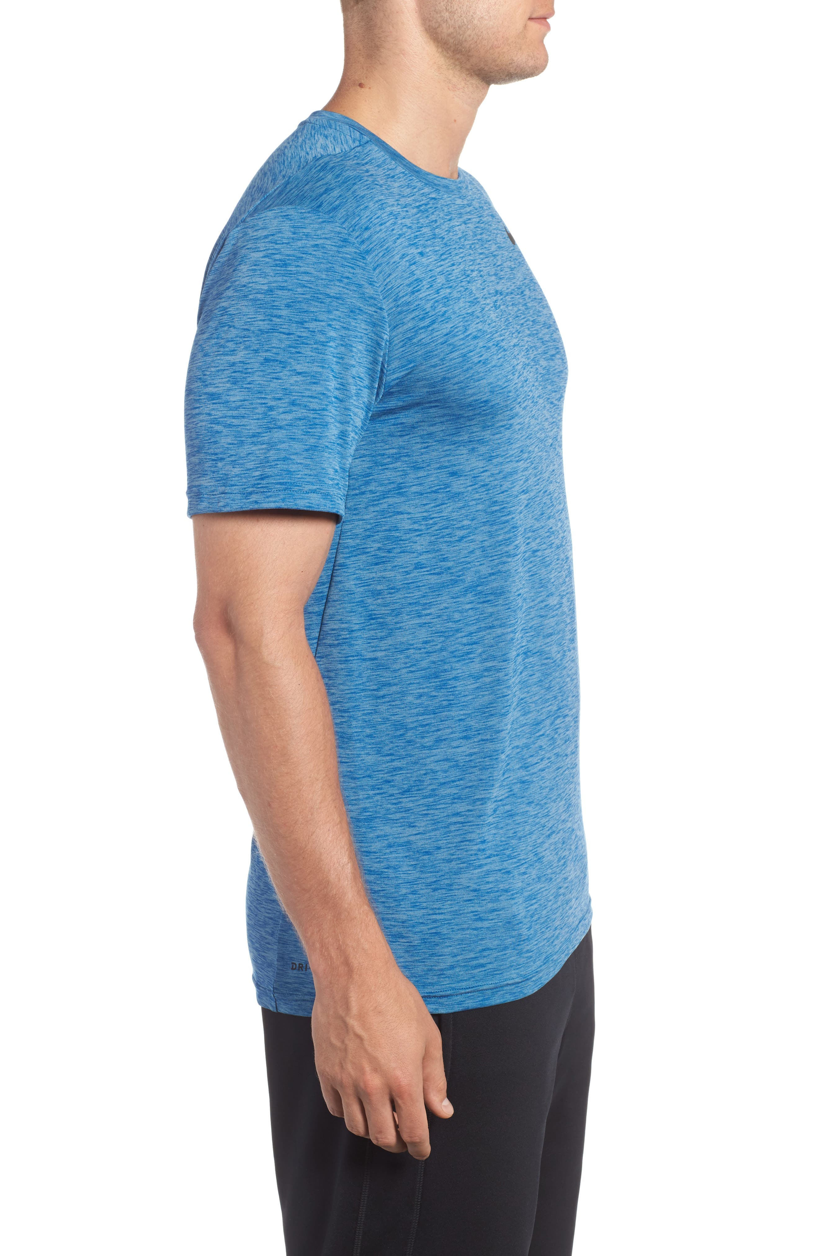 Hyper Dry Training Tee,                             Alternate thumbnail 3, color,                             Cerulean/ Blue Jay/ Black