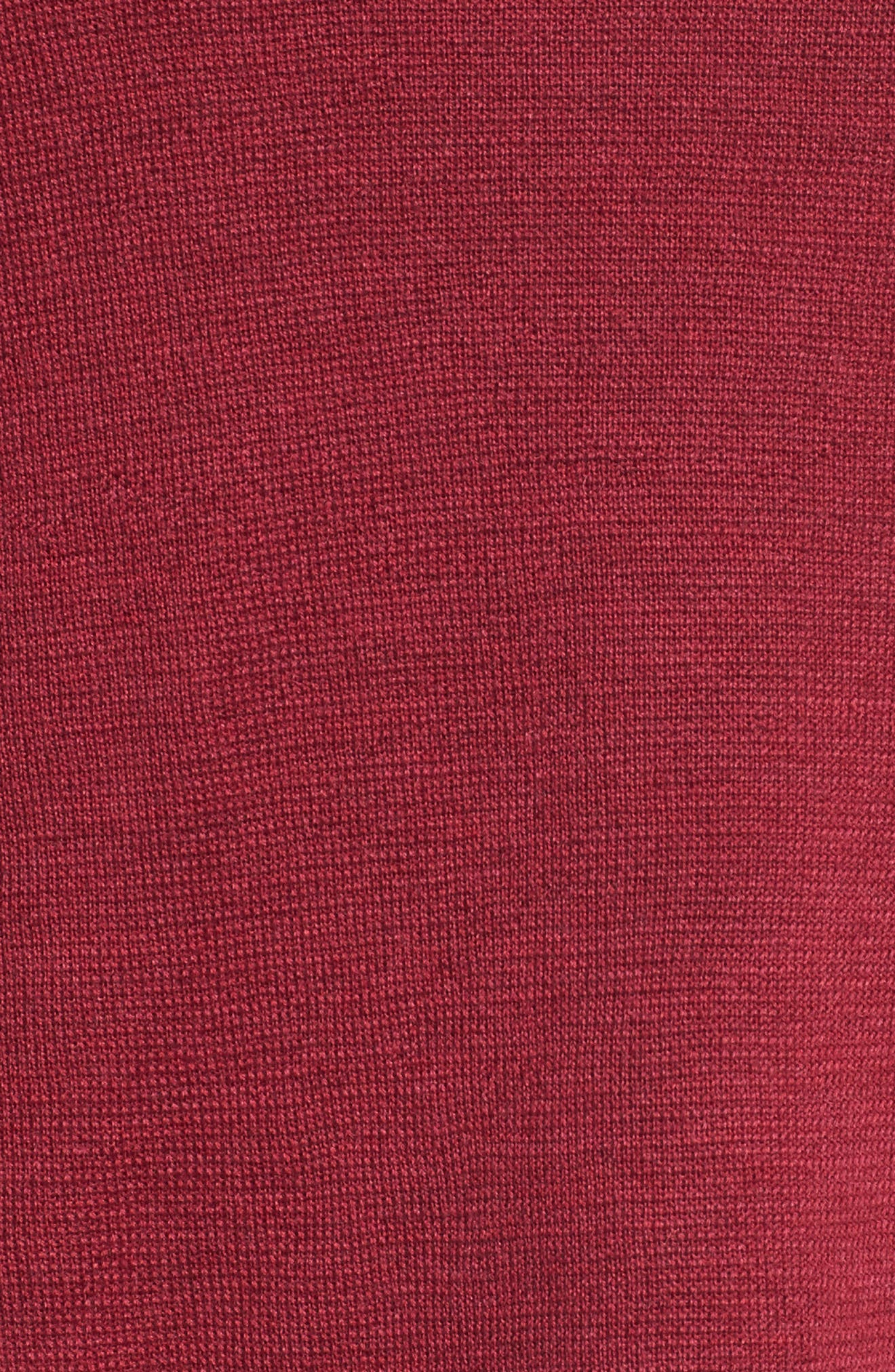 Merino Wool Sweater Dress,                             Alternate thumbnail 5, color,                             Hibiscus