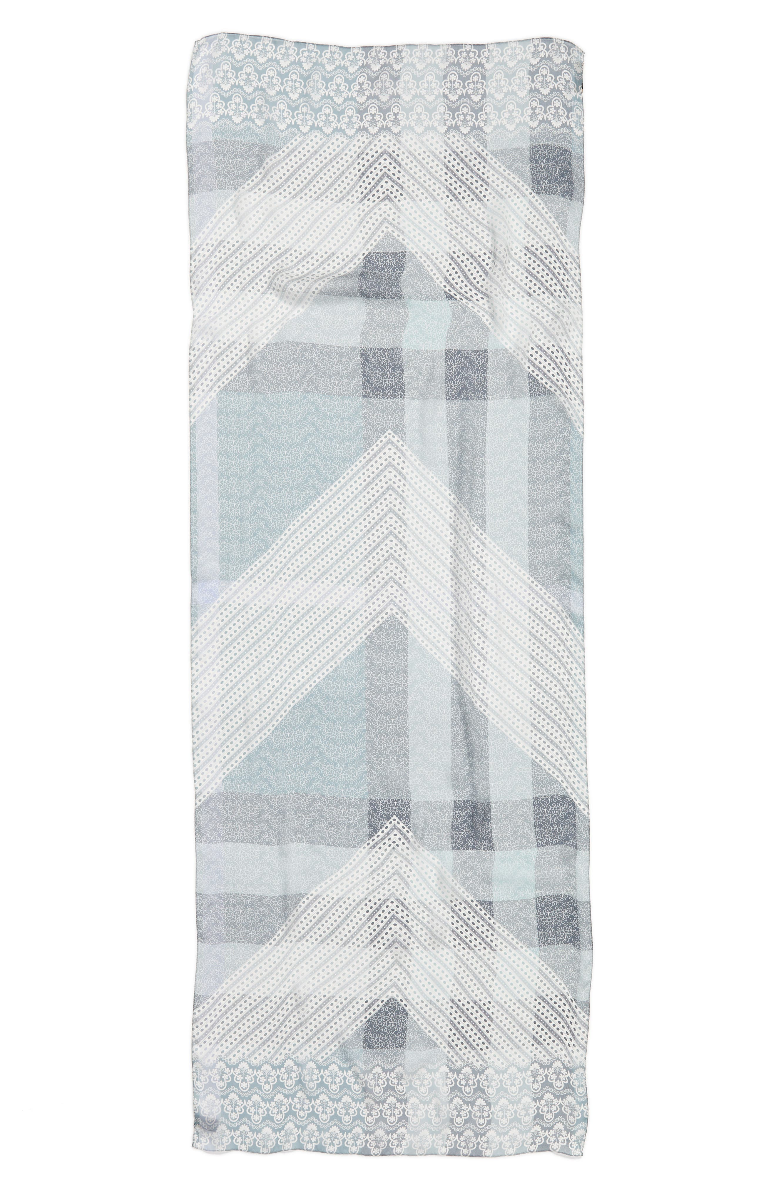 Burberry Ultra Washed Mega Check Silk Scarf