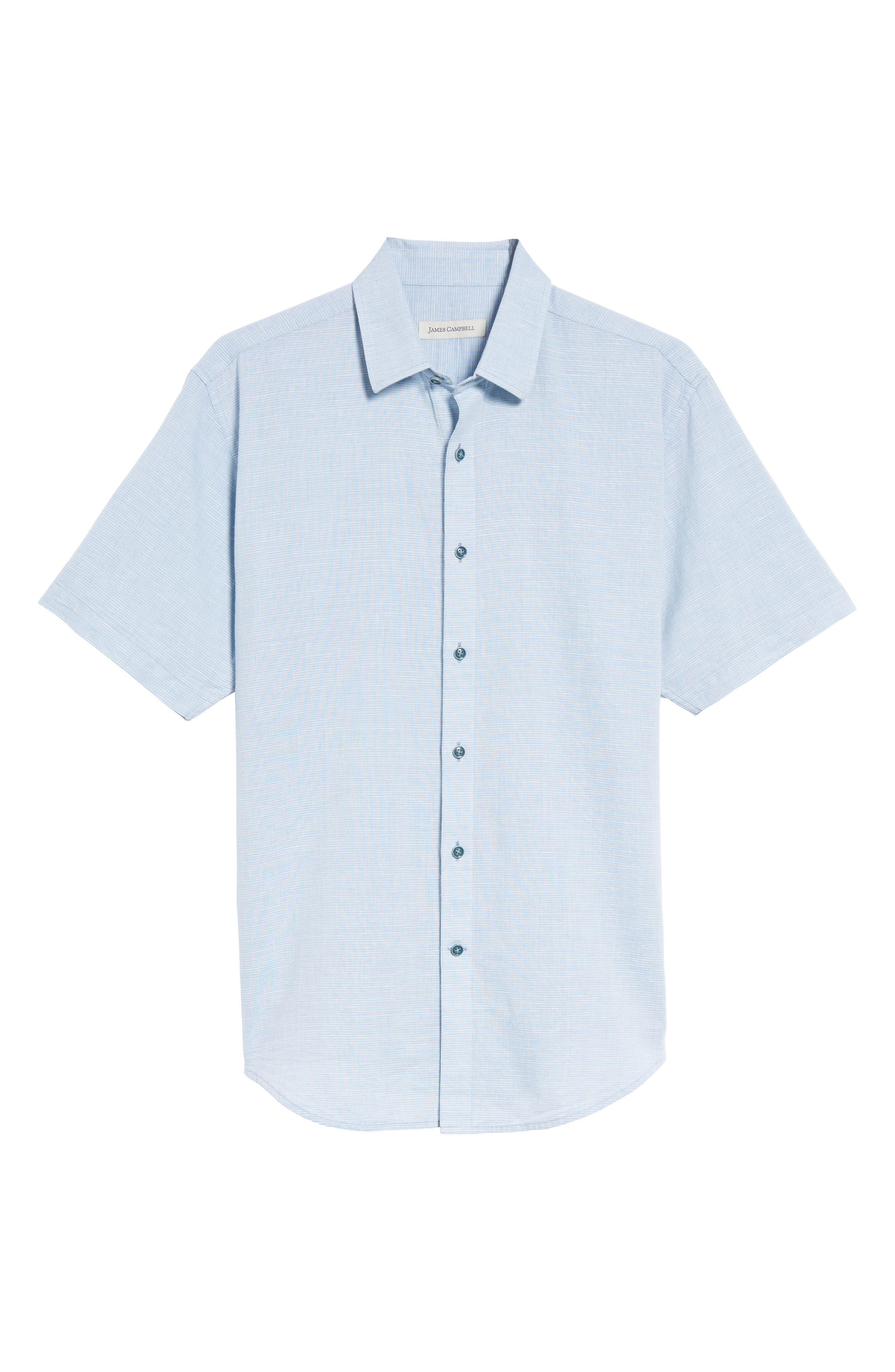 Alternate Image 6  - James Campbell 'Ellerbe' Regular Fit Short Sleeve Sport Shirt