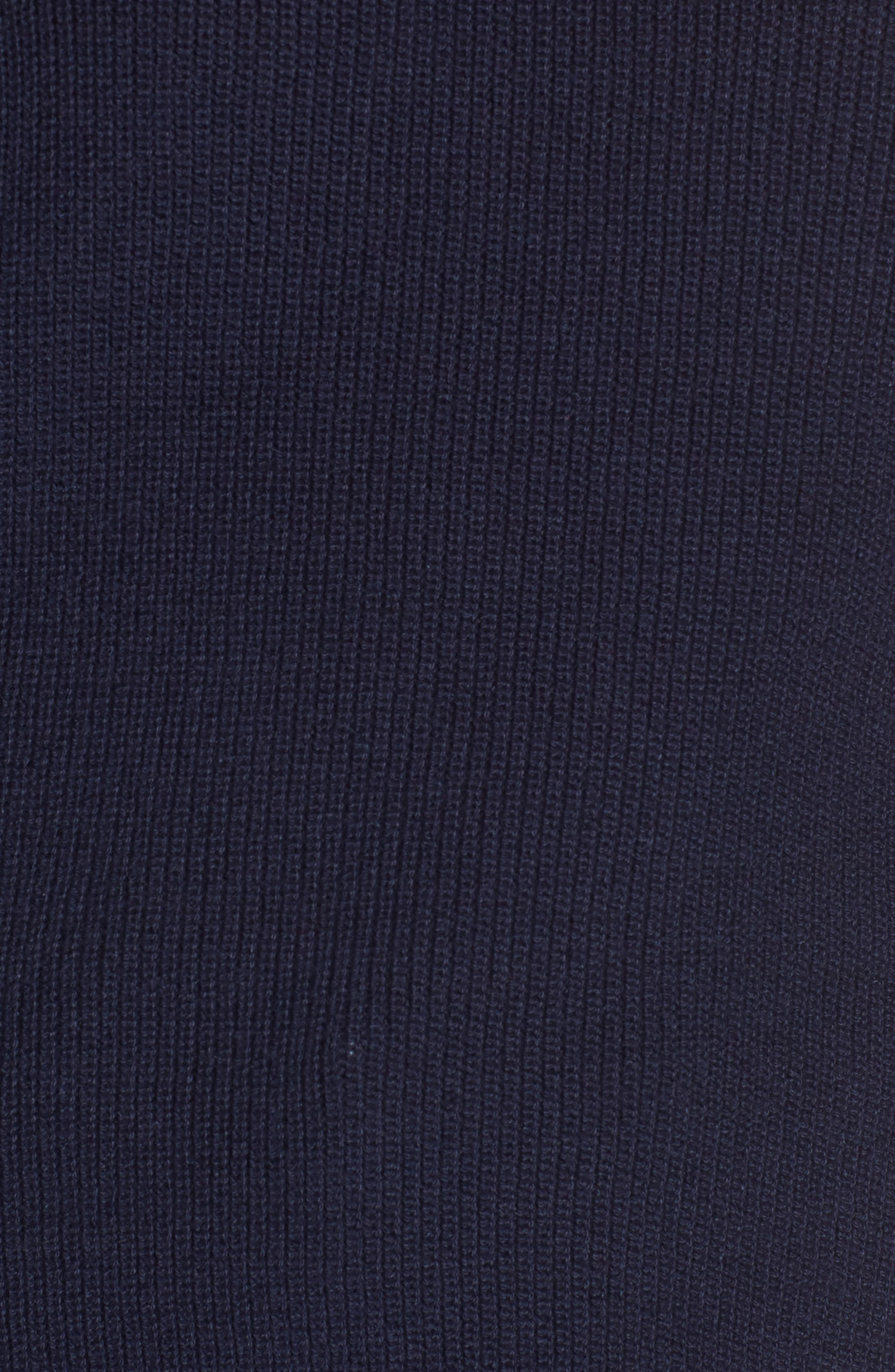 Drape Sleeve Sweater,                             Alternate thumbnail 5, color,                             Navy Evening