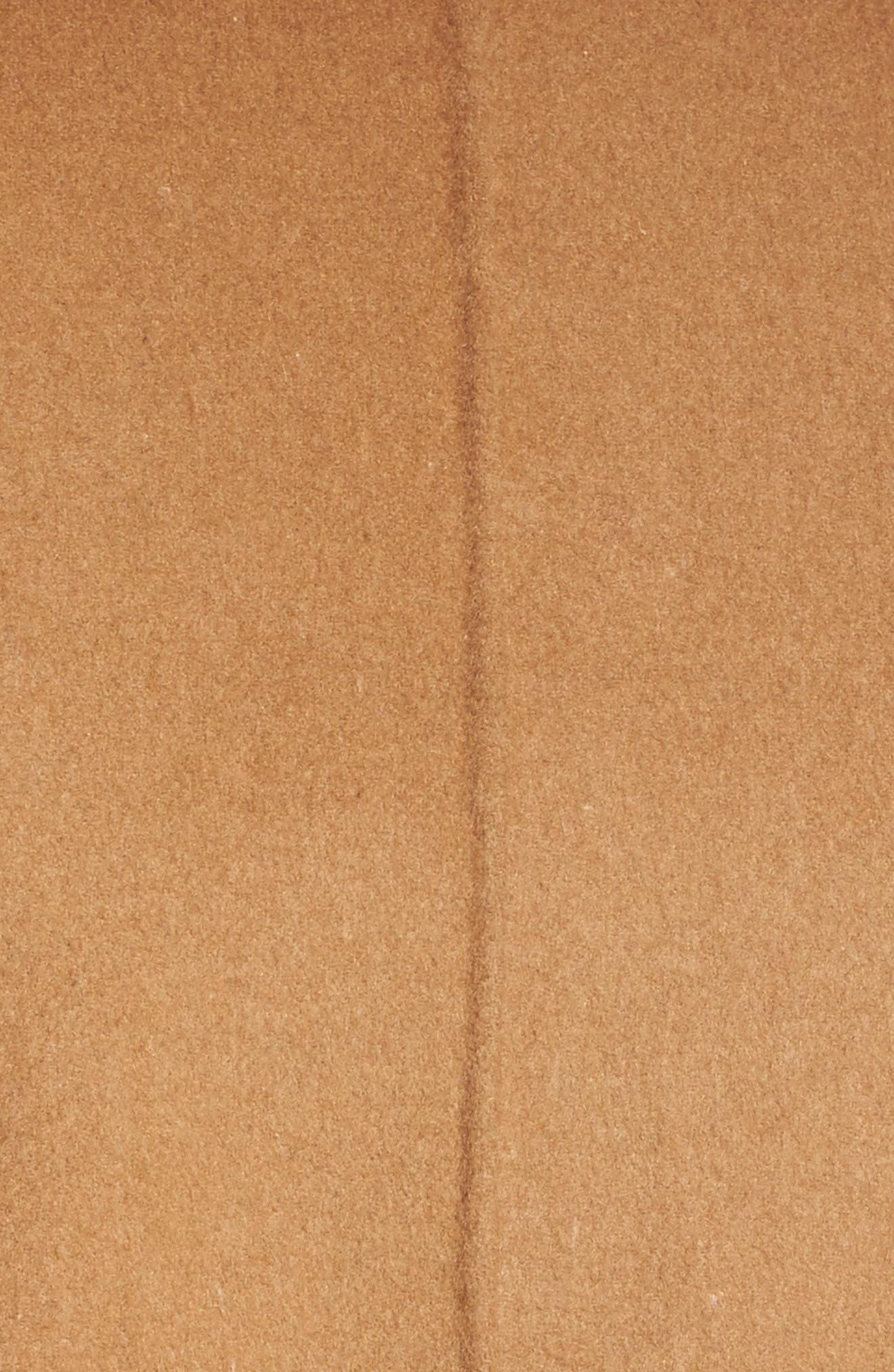 Nina Double Face Wool Blend Coat,                             Alternate thumbnail 5, color,                             Hazelnut