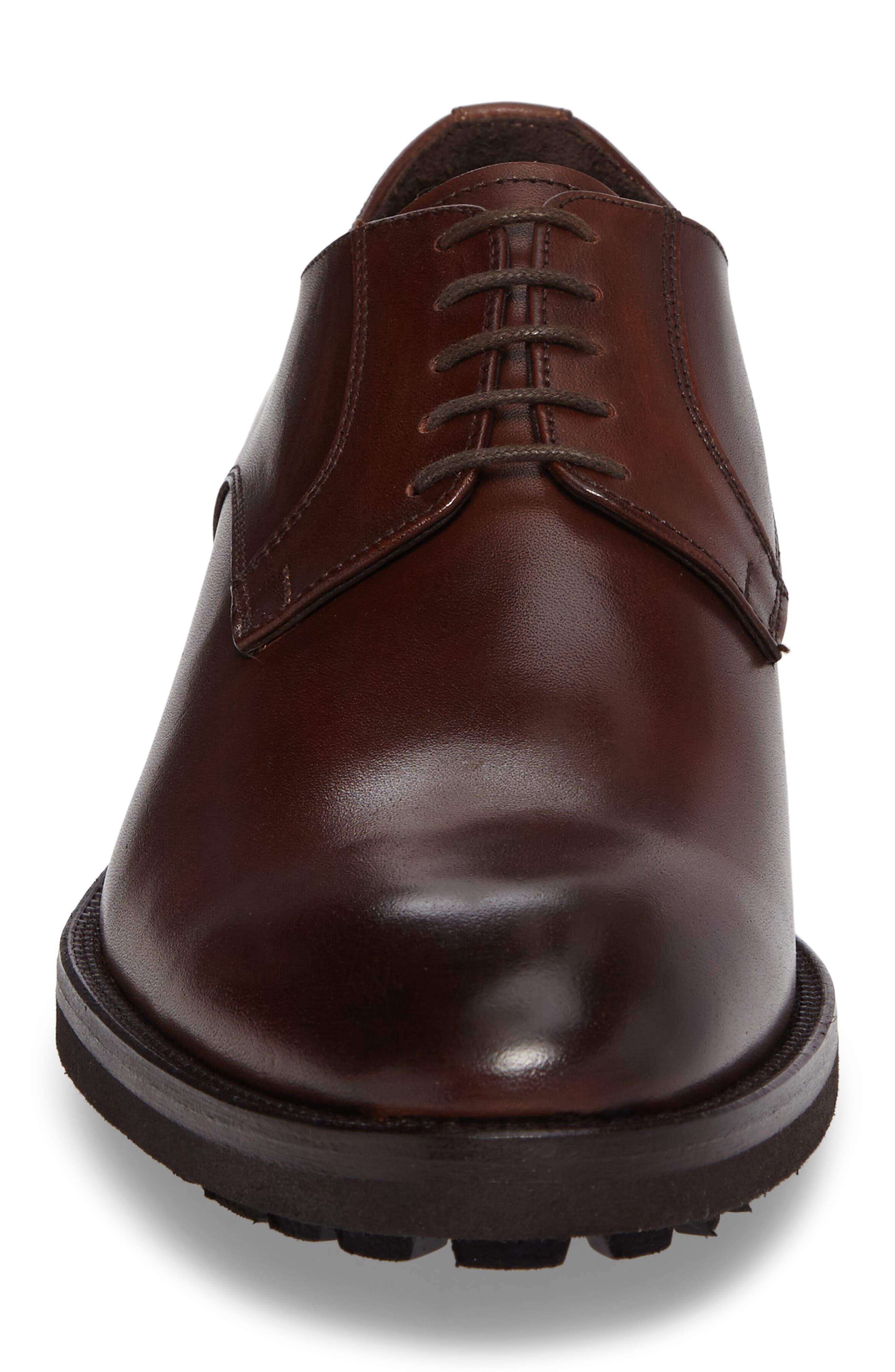 Martell Plain Toe Derby,                             Alternate thumbnail 4, color,                             Marrone