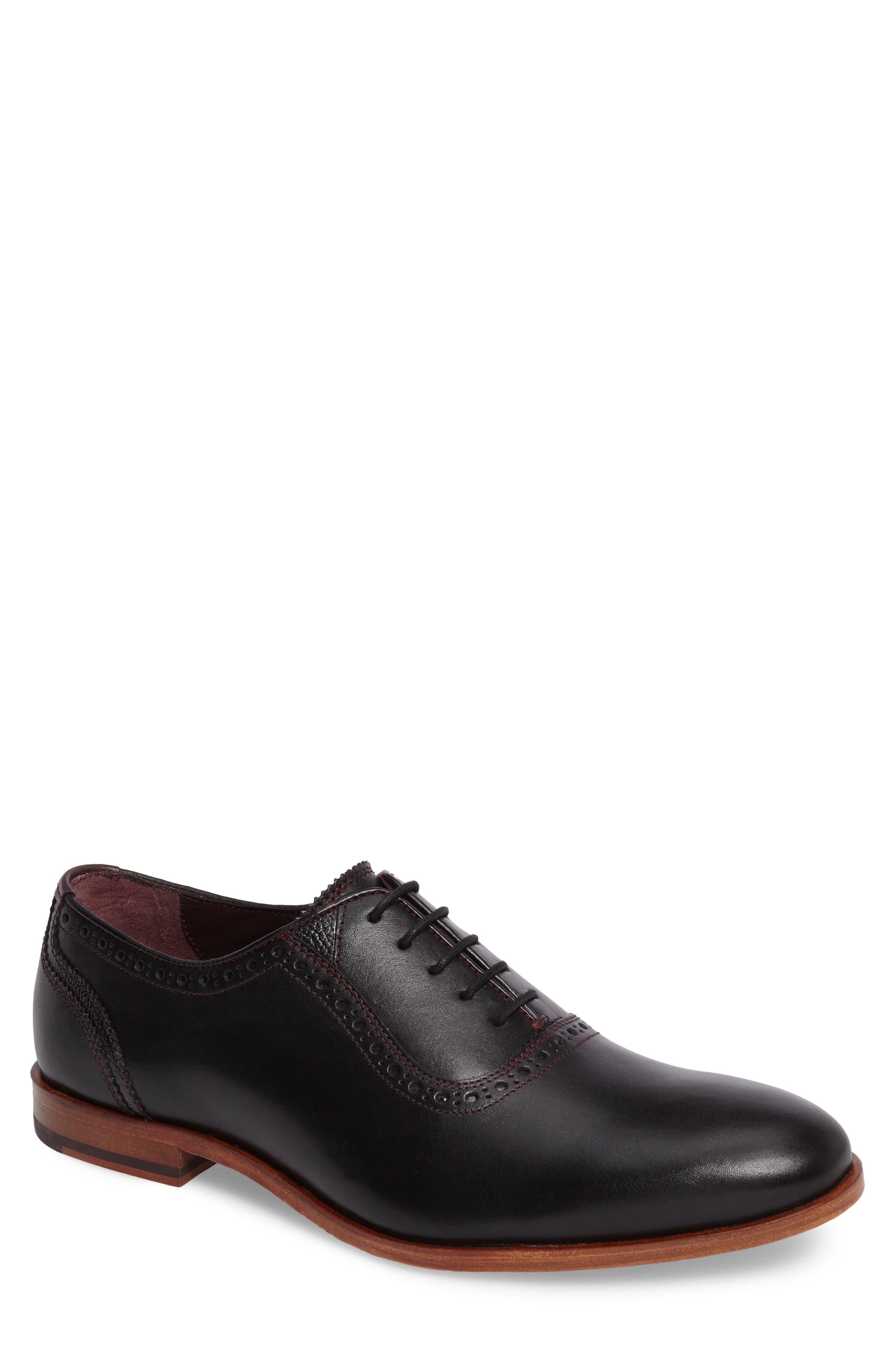 Anice Plain Toe Oxford,                         Main,                         color, Black Leather