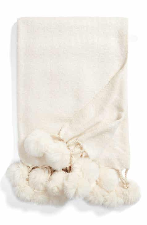 OffWhite Throw Blankets Bed Throws Wool Fleece Nordstrom Inspiration Charlotte Ruffled Throw Blanket