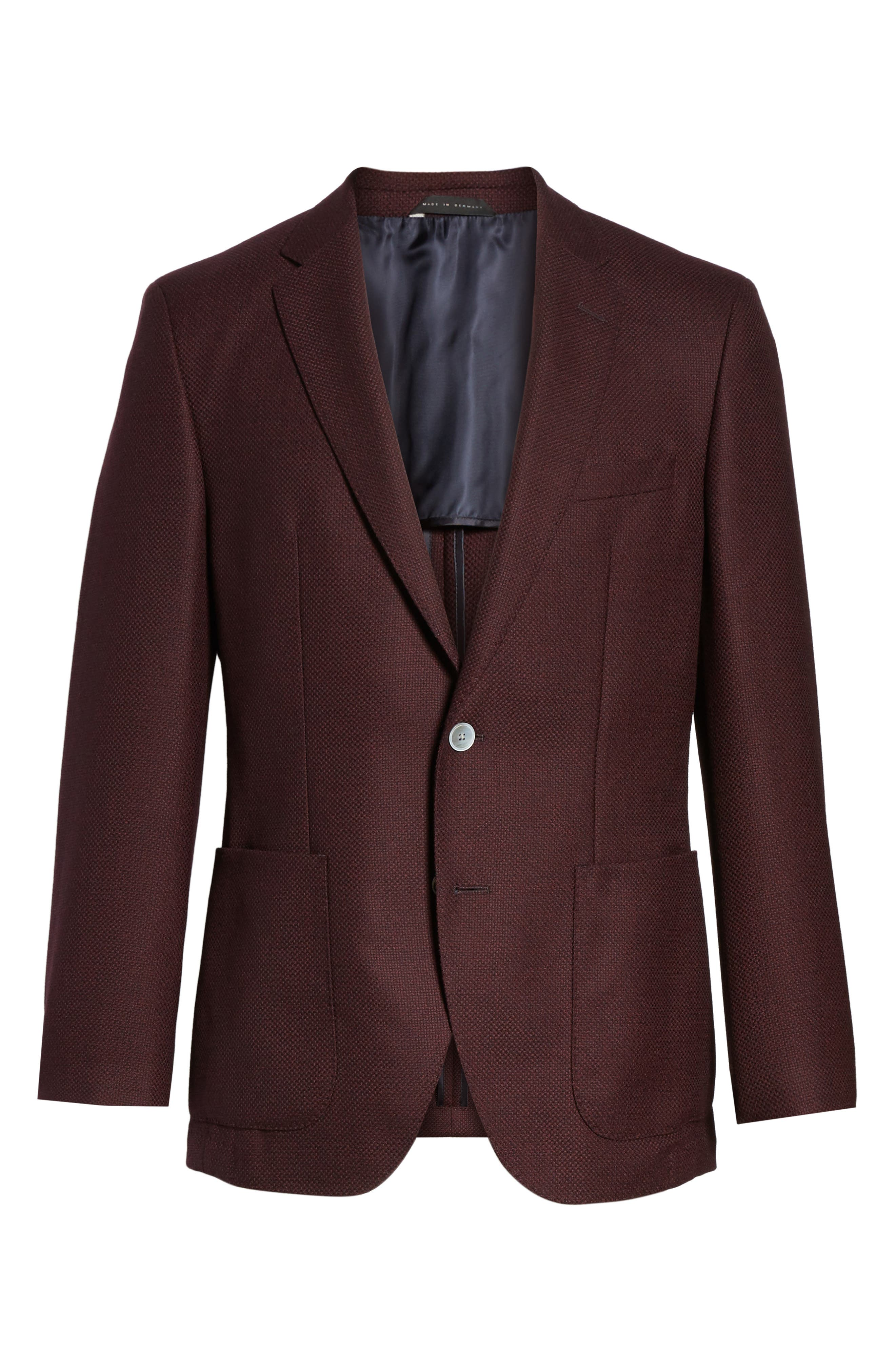 Alternate Image 6  - BOSS Janson Trim Fit Wool Blazer