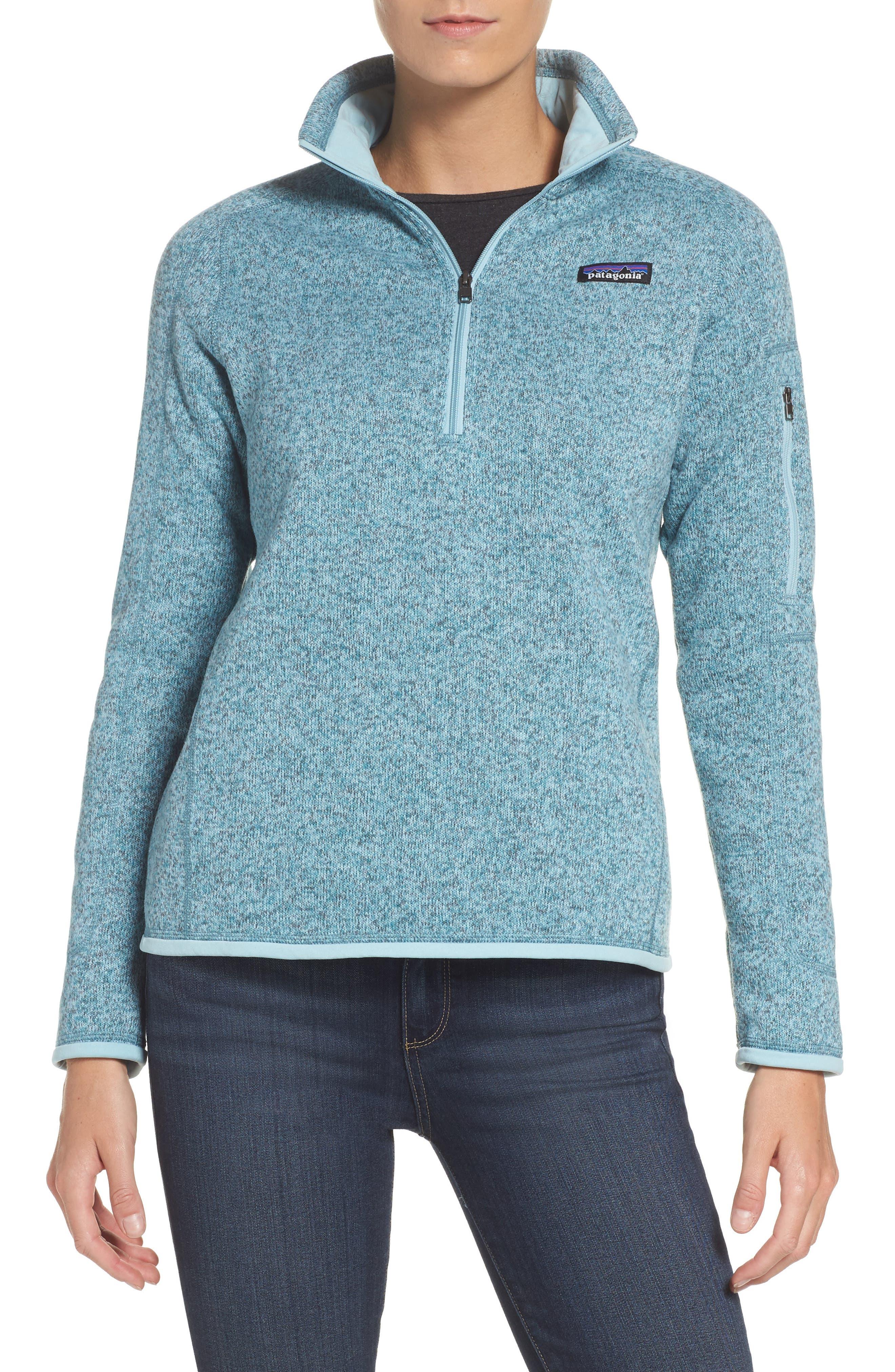 'Better Sweater' Zip Pullover,                         Main,                         color, Tubular Blue W/ Crevasse Blue