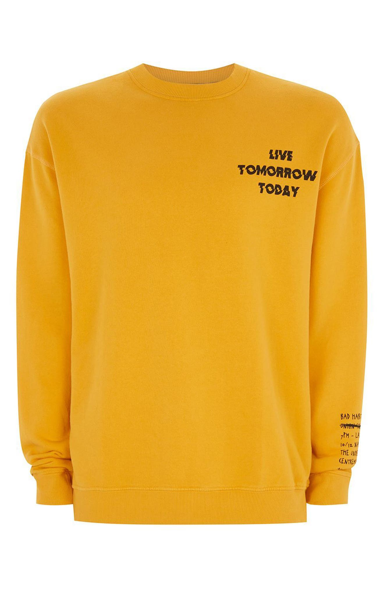 Alternate Image 4  - Topman Legacy Graphic Crewneck Sweatshirt
