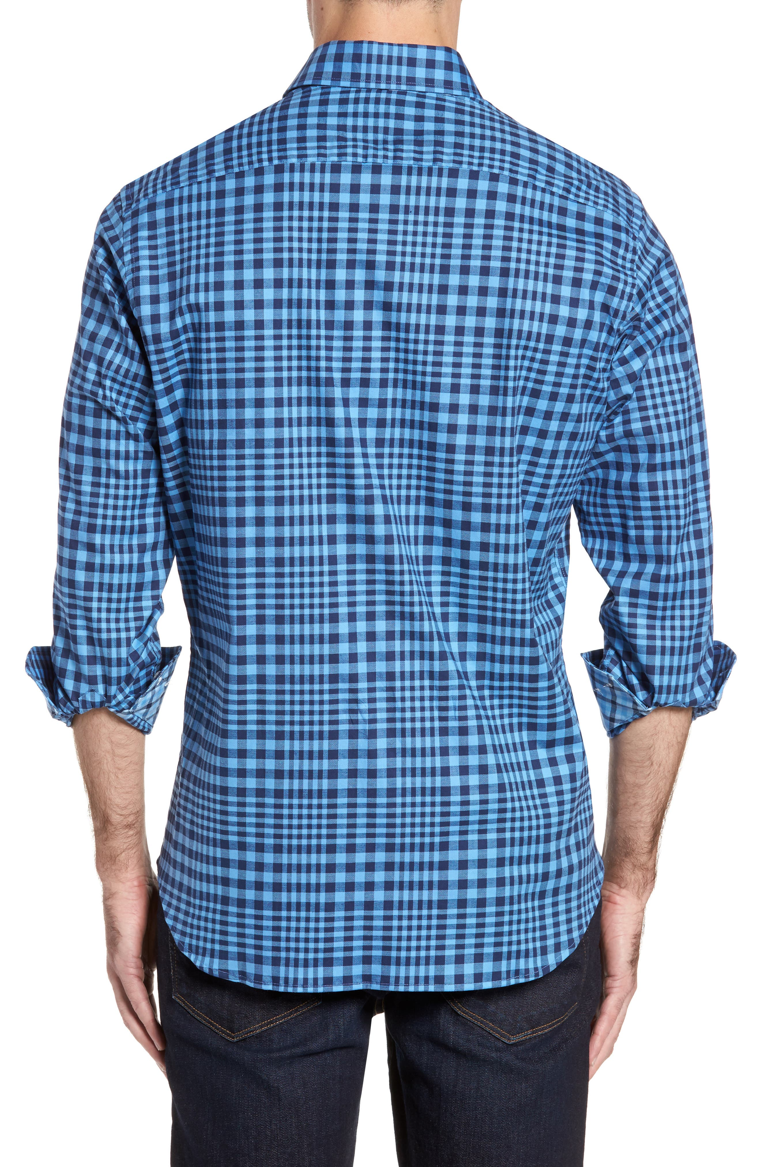 Alternate Image 2  - TailorByrd Bayou Cone Check Sport Shirt