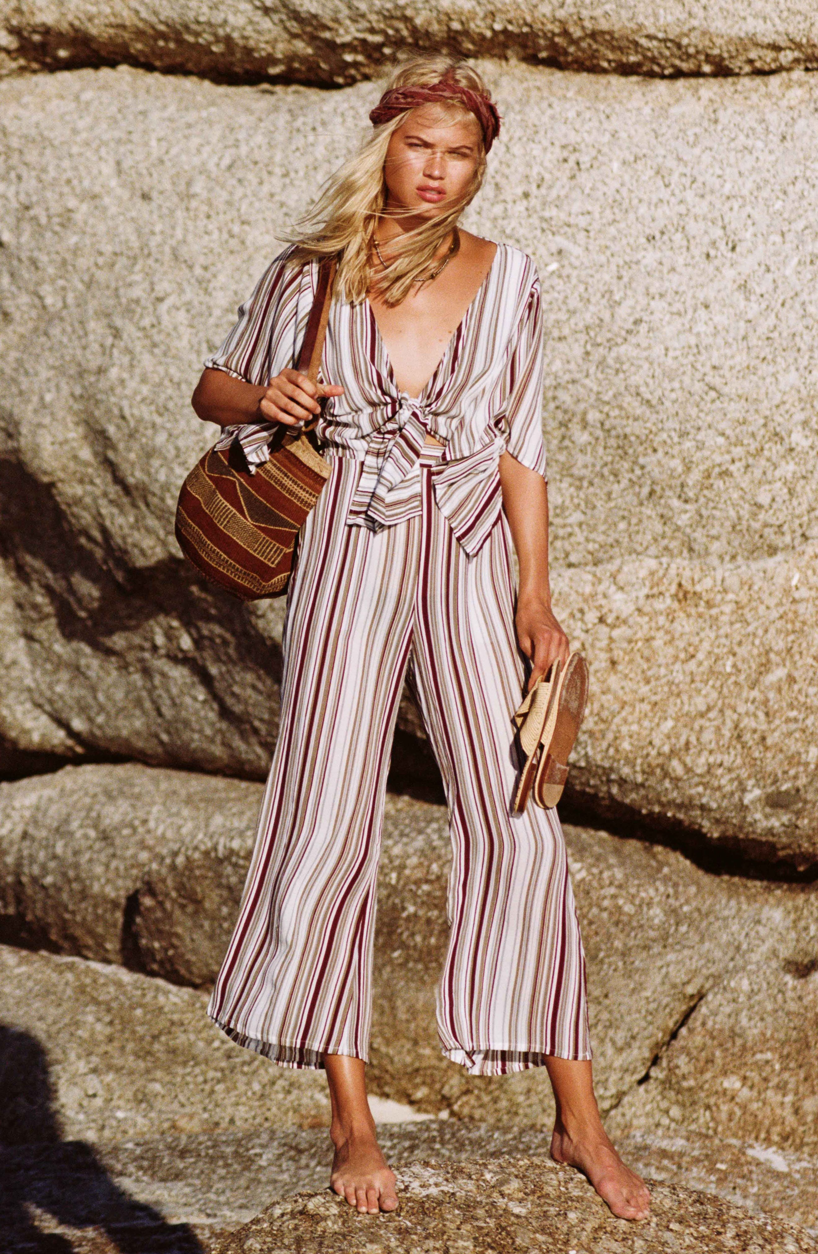 Alternate Image 6  - FAITHFULL THE BRAND Tilos Stripe Knotted Jumpsuit