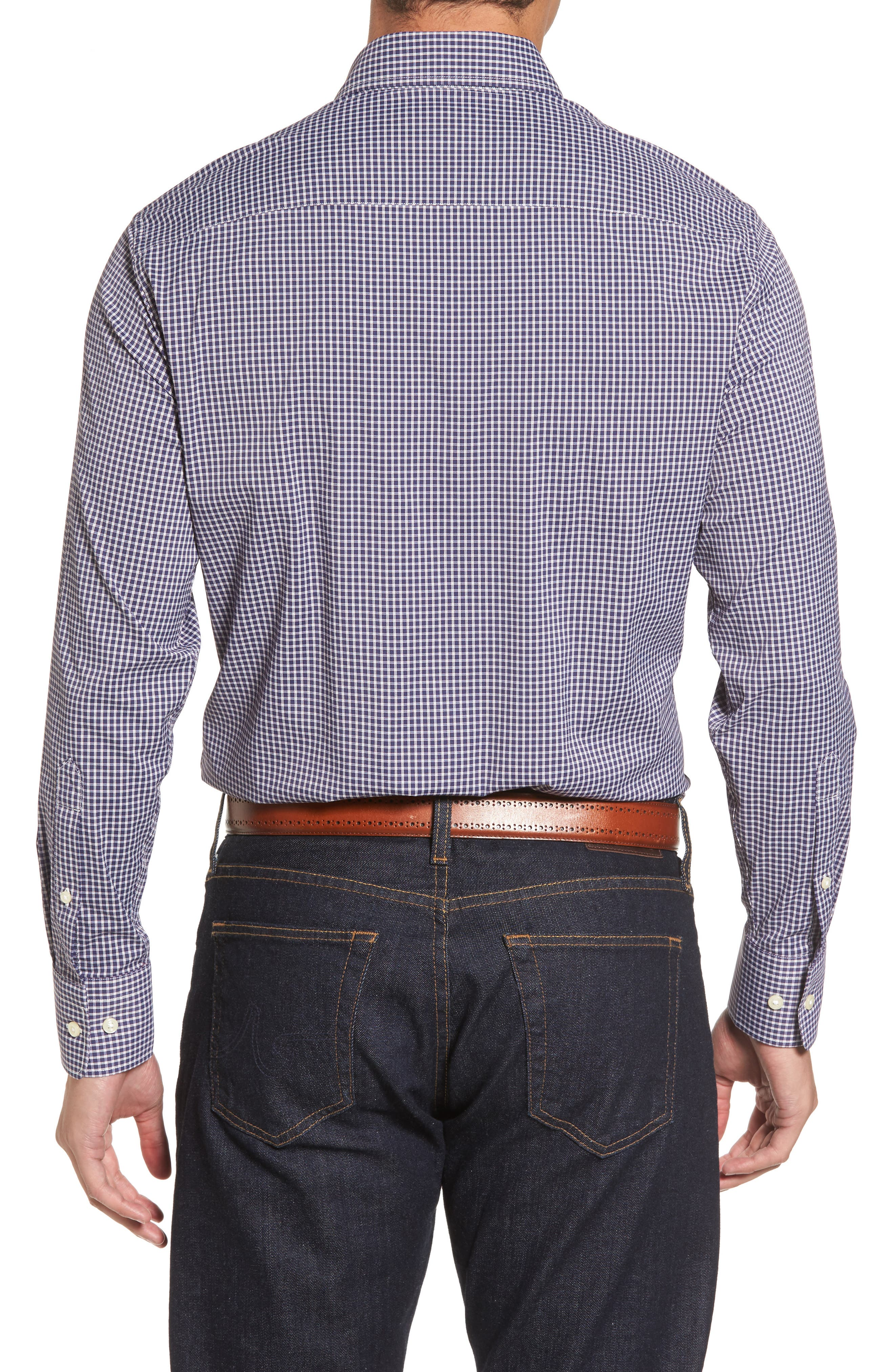 Alternate Image 2  - Peter Millar Statler Regular Fit Check Performance Sport Shirt