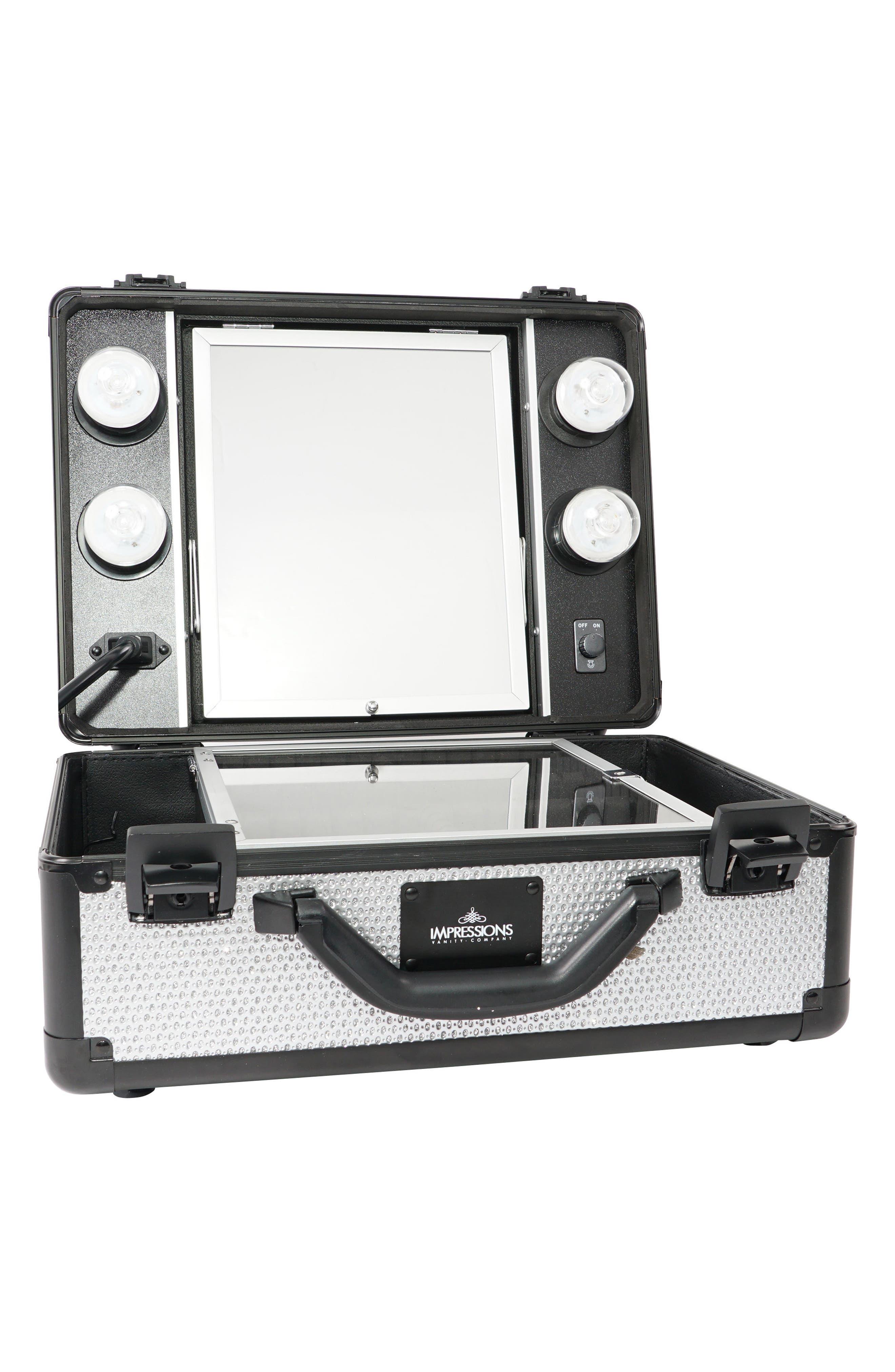 SlayCase<sup>™</sup> Vanity Travel Case,                         Main,                         color, Sparkling Silver