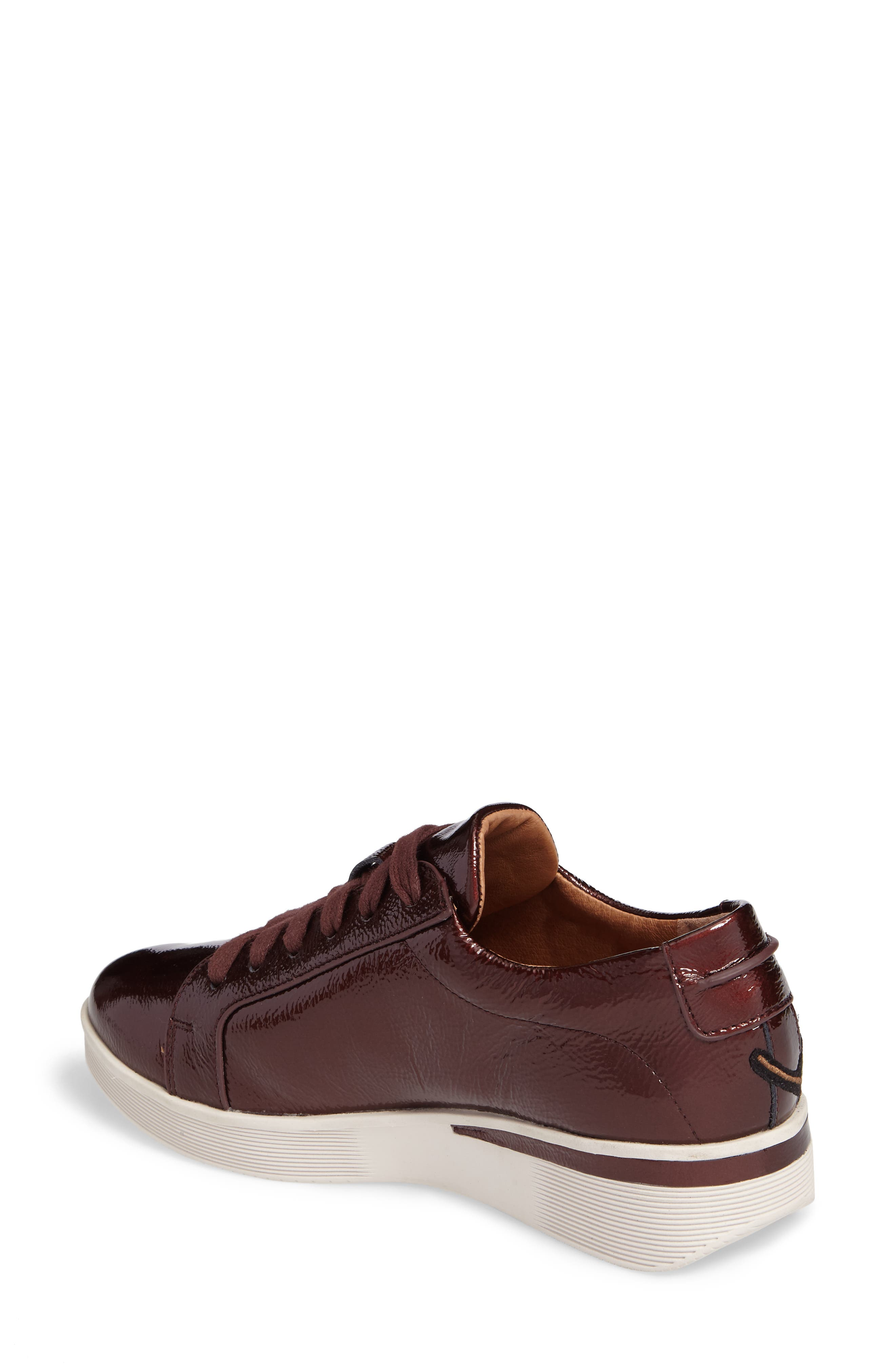 Gentle Soles Haddie Rose Sneaker,                             Alternate thumbnail 2, color,                             Wine Patent Leather