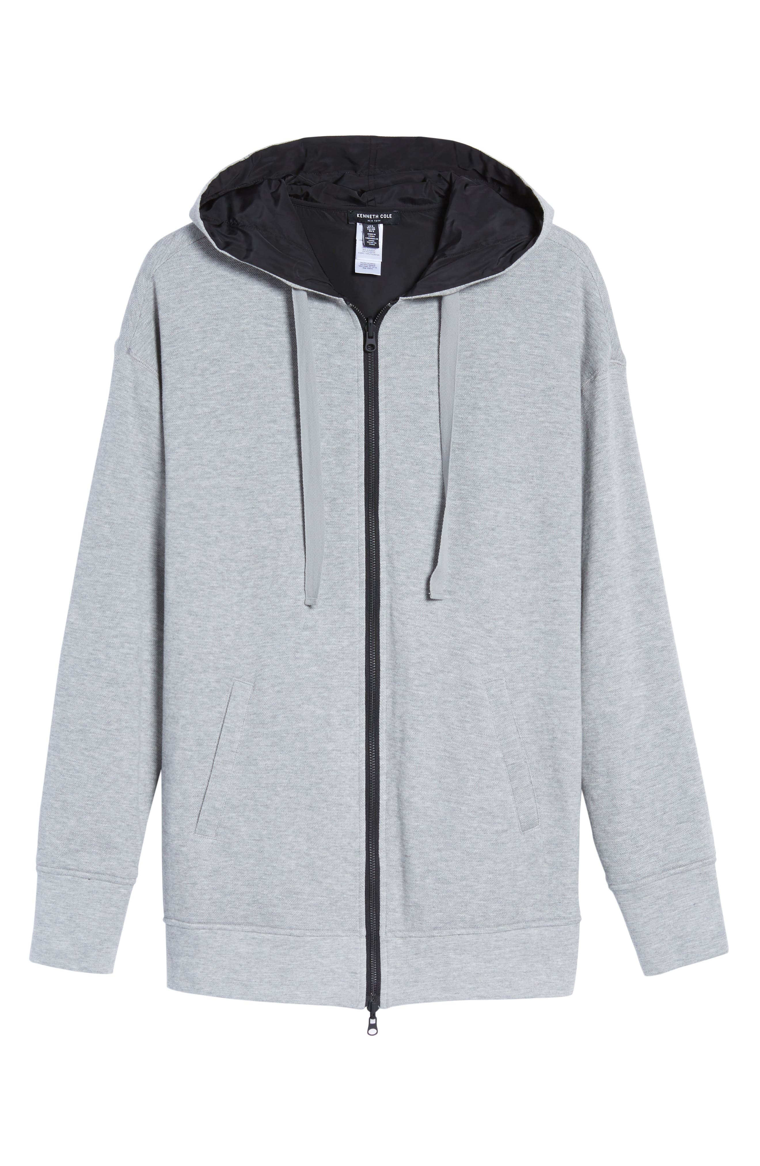 Reversible Graphic Hoodie,                             Alternate thumbnail 6, color,                             Heather Grey