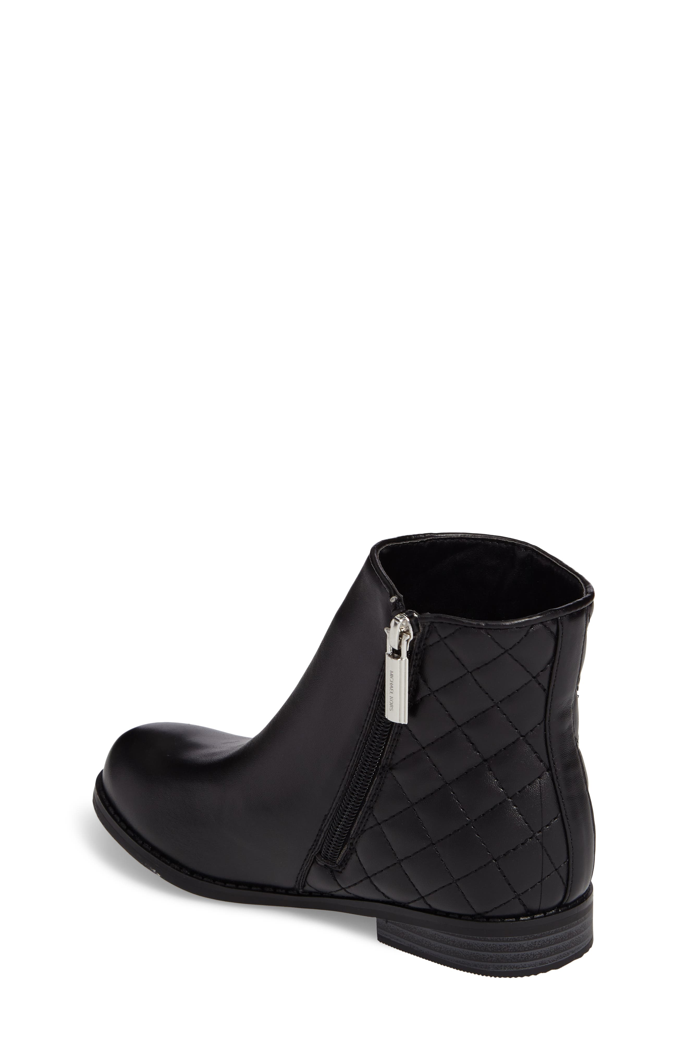 Emma Dede Quilted Bootie,                             Alternate thumbnail 2, color,                             Black