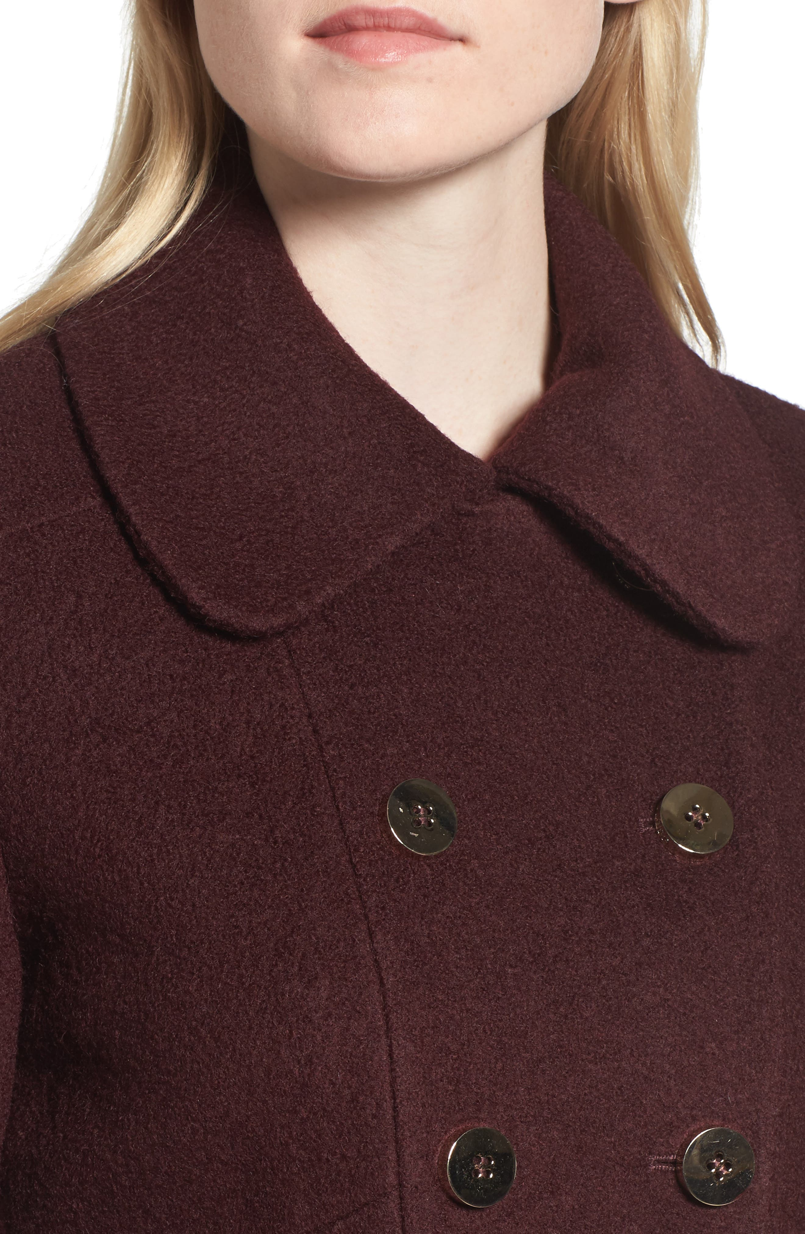 Alternate Image 3  - GUESS Double Breasted Boiled Wool Peacoat (Regular & Petite)