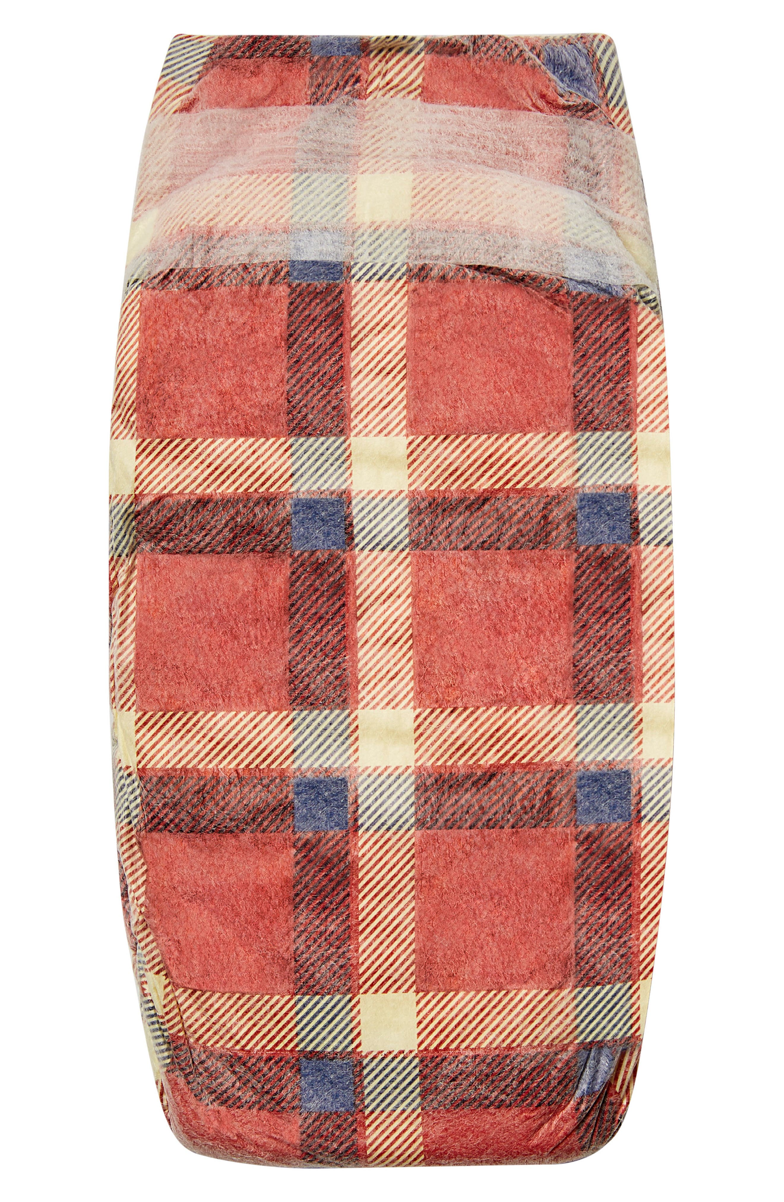 x THE GREAT. The Camper Plaid Diapers,                             Alternate thumbnail 4, color,                             Camper Plaid