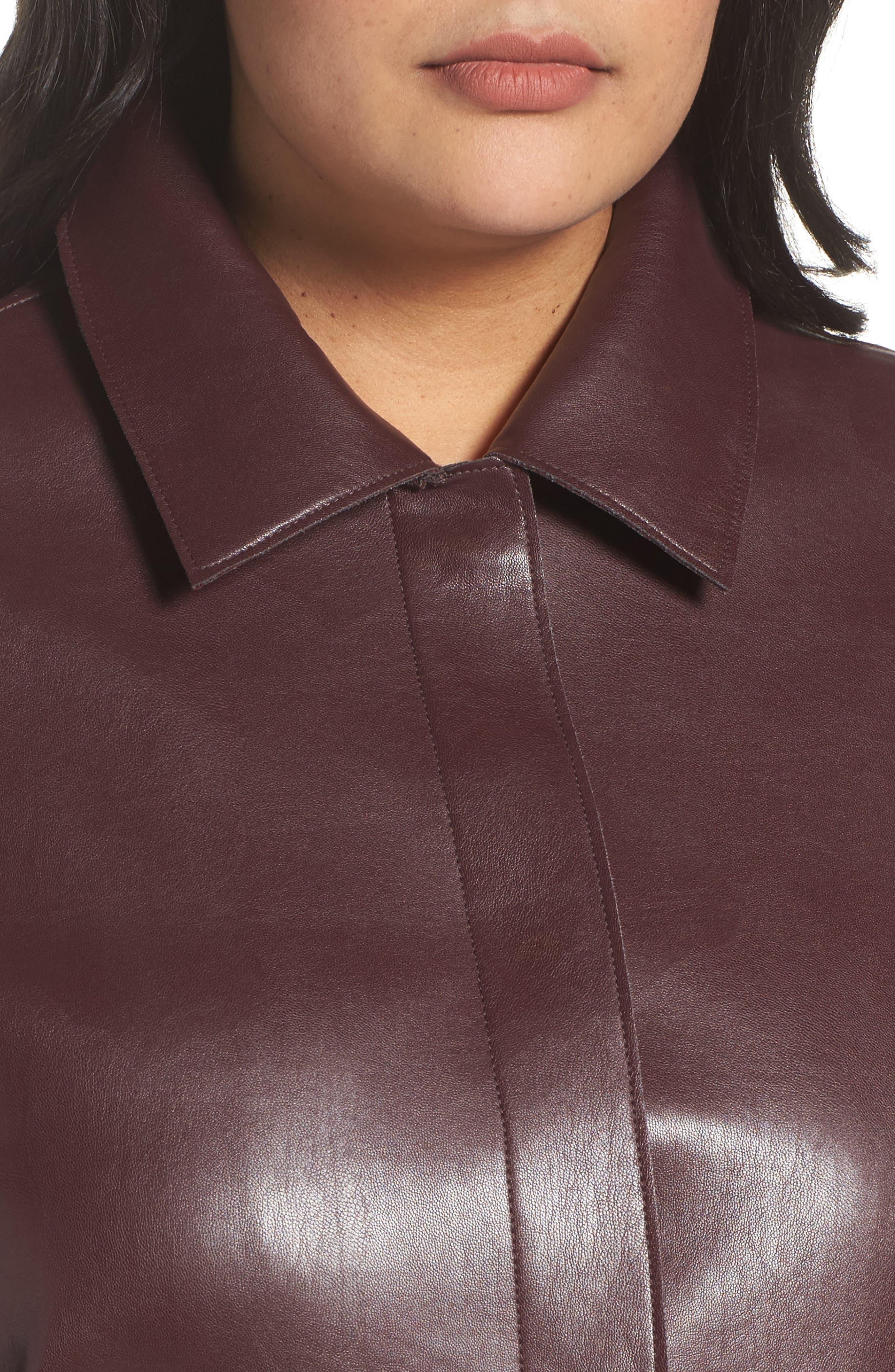Alternate Image 4  - Persona by Marina Rinaldi Narrare Faux Leather Coat (Plus Size)