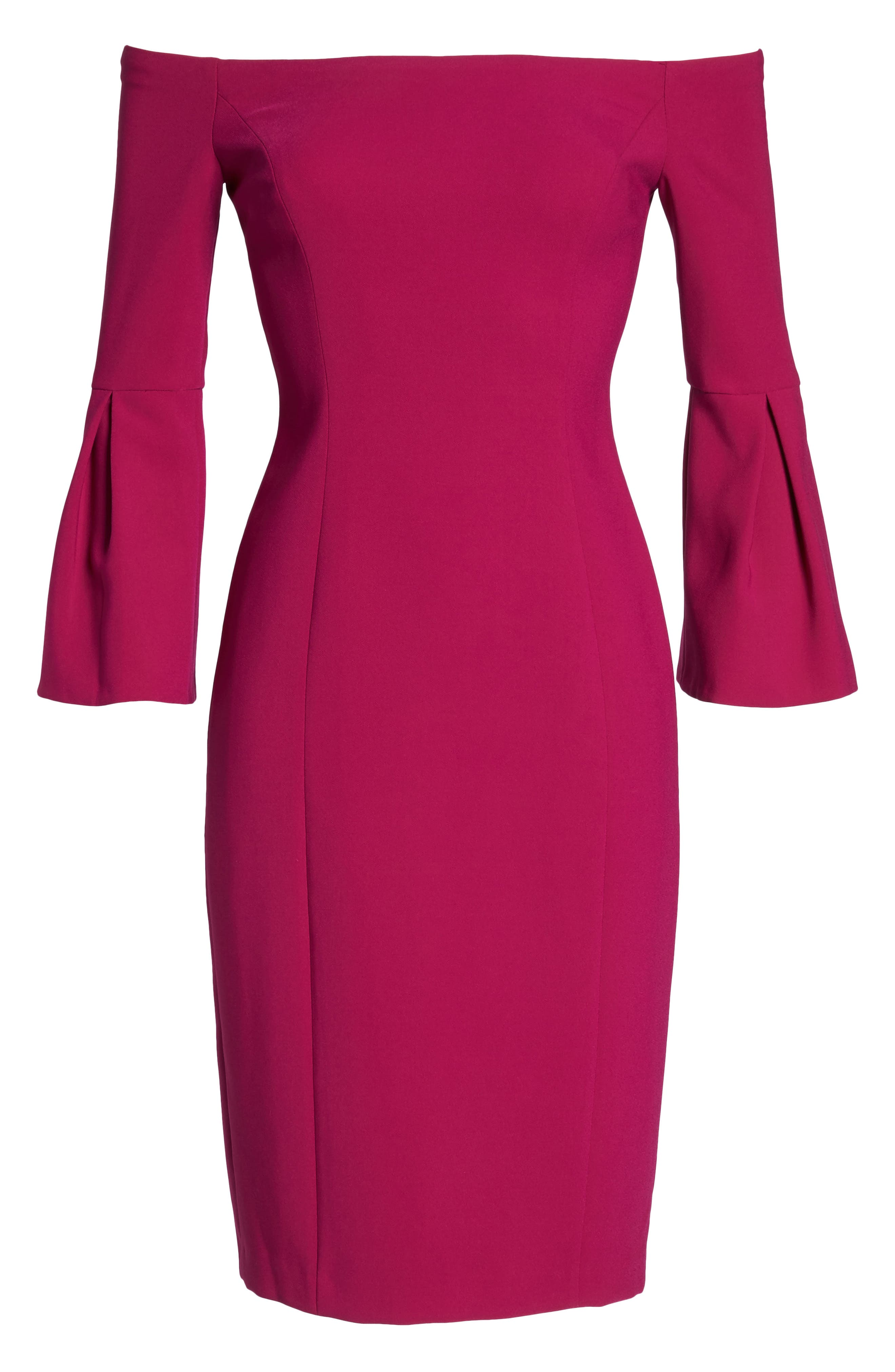 Main Image - Vince Camuto Off the Shoulder Bell Sleeve Sheath Dress