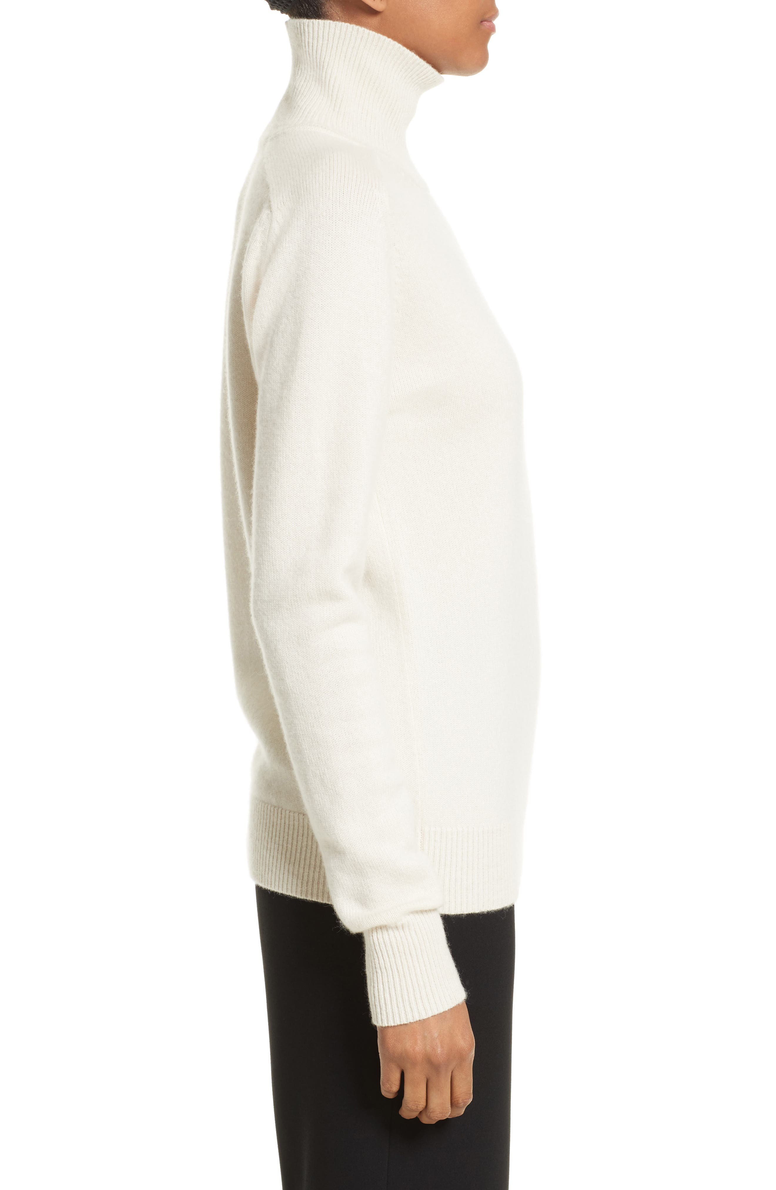 Cashmere Turtleneck Sweater,                             Alternate thumbnail 2, color,                             Vanilla