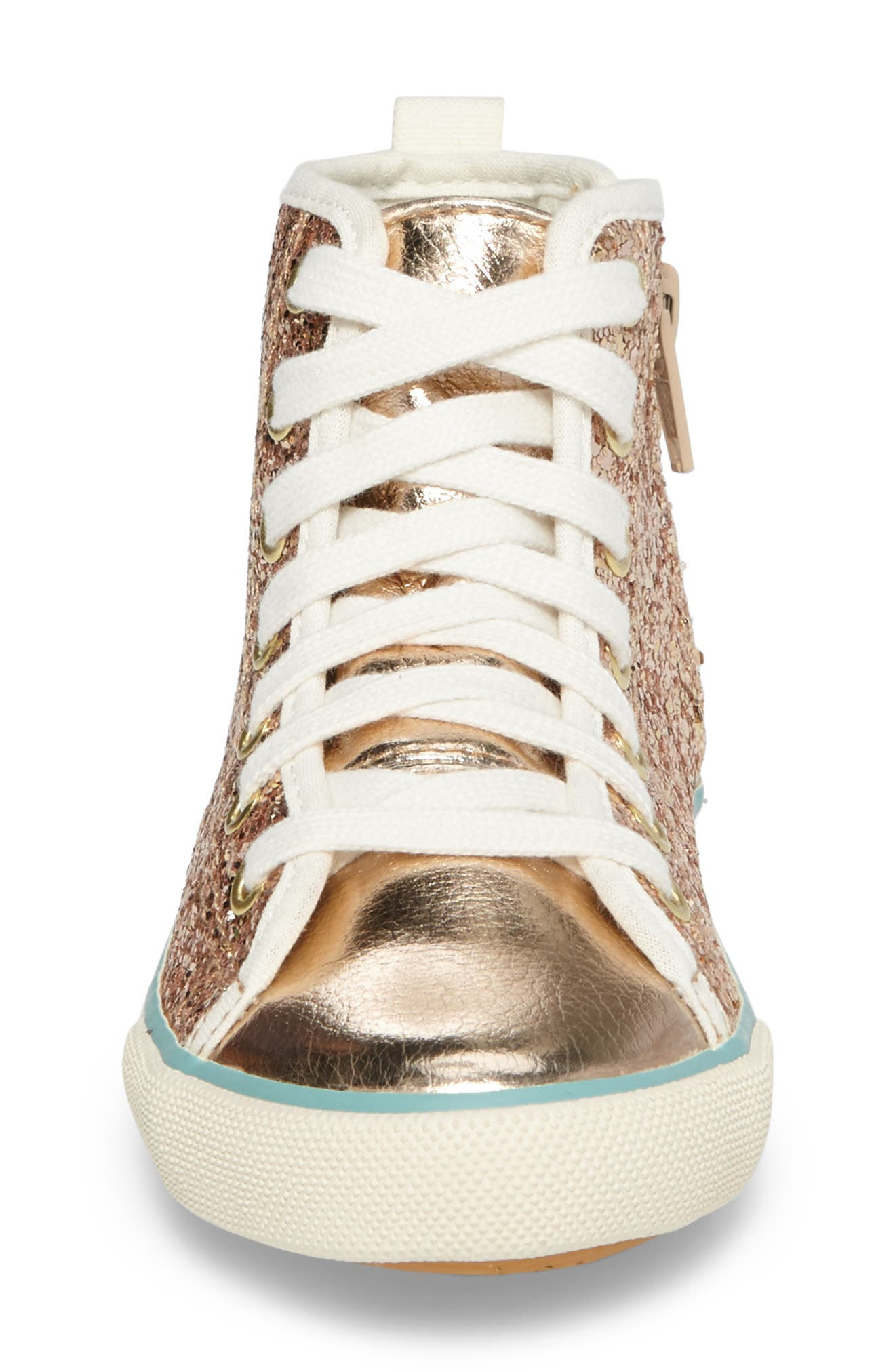 Alternate Image 4  - Mini Boden High Top Sneaker (Toddler, Little Kid & Big Kid)