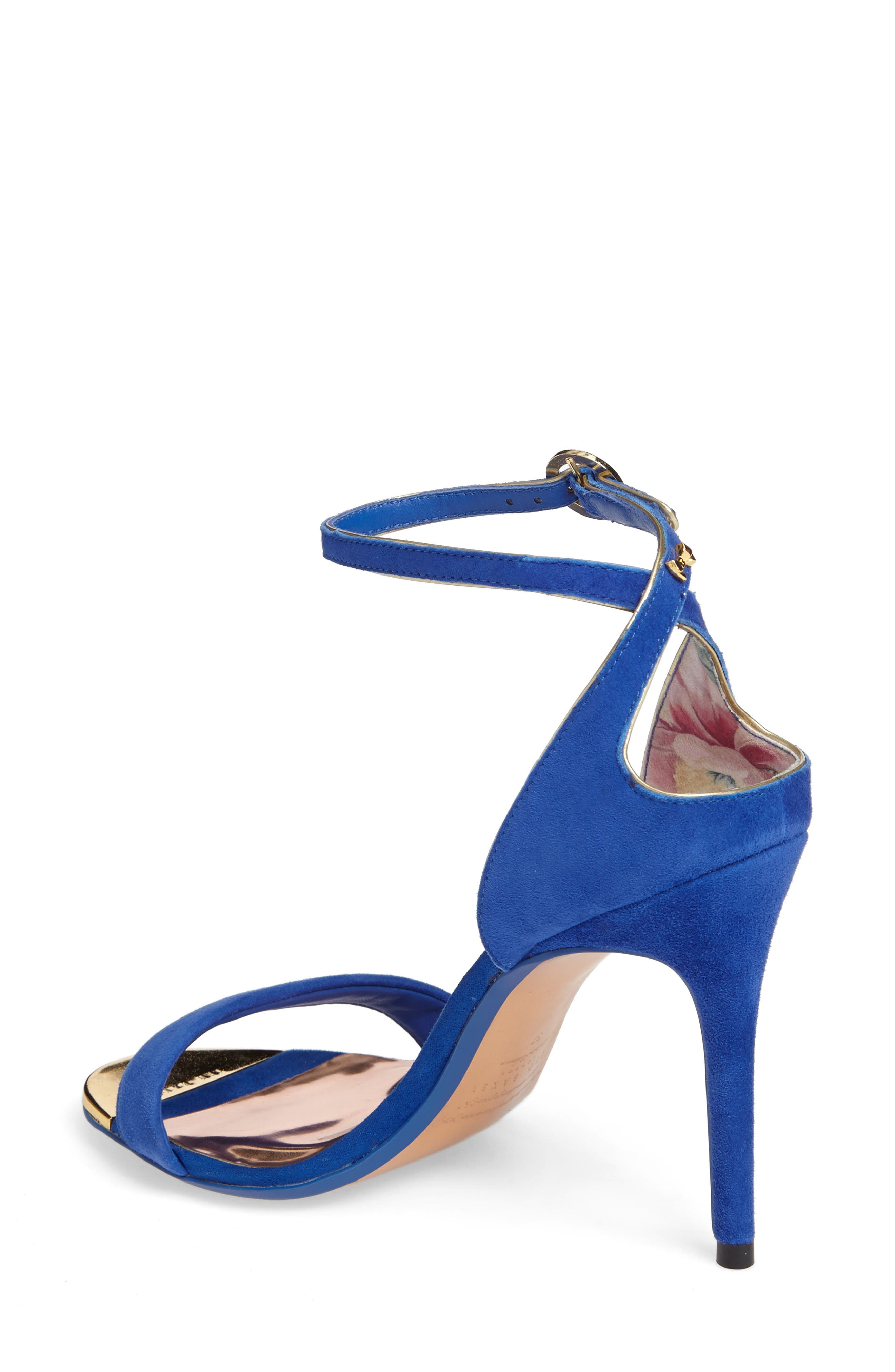 Mirobell Ankle Strap Sandal,                             Alternate thumbnail 2, color,                             Blue Suede