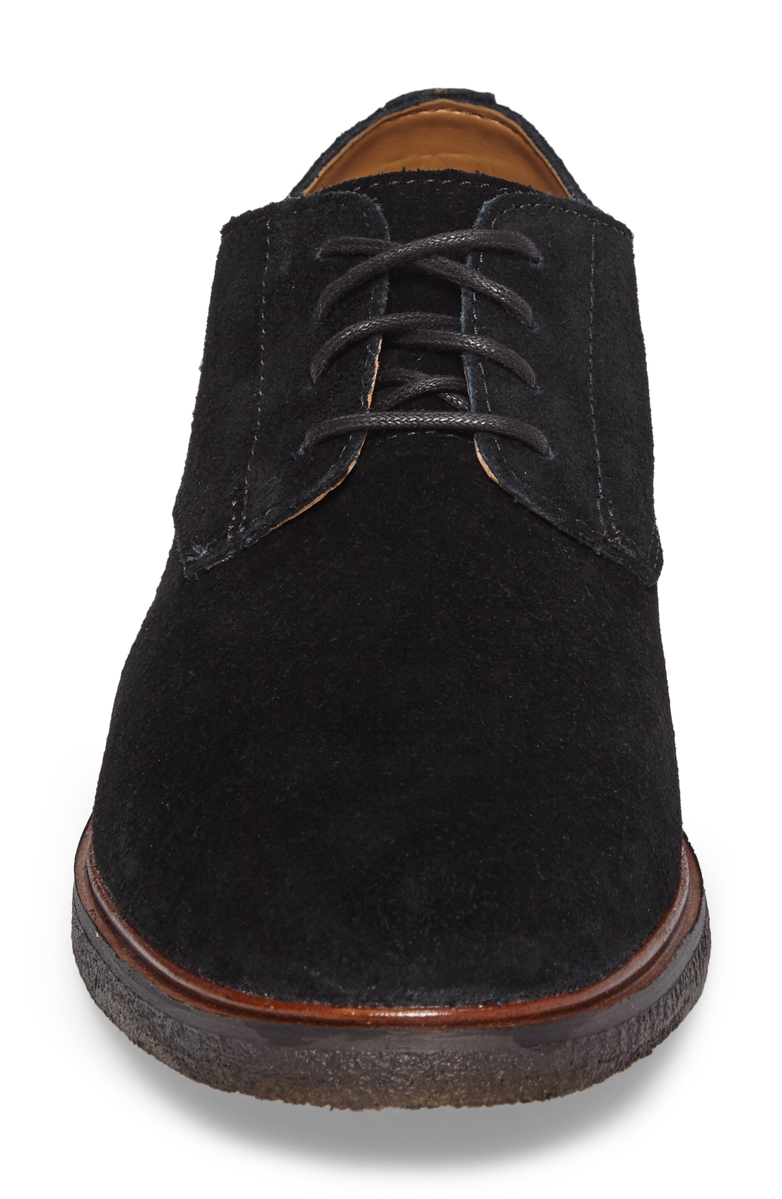 Clarks Clarkdale Moon Buck Shoe,                             Alternate thumbnail 4, color,                             Black Suede